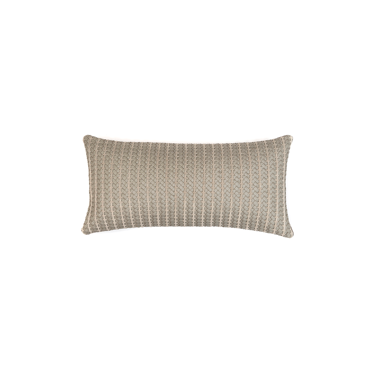 Rib Woven Leather Cushion Small - The Rib Woven Leather Cushion is designed to complement an ambient with a natural and sophisticated feeling. This cushion style is available in pleated leather or pleated suede leather. Elisa Atheniense woven handmade leather cushions are specially manufactured in Brazil using an exclusive treated leather that brings the soft feel touch to every single piece.   The front panel is handwoven in leather and the back panel is 100% Pes, made in Brazil.  The inner cushion is available in Hollow Fibre and European Duck Feathers, made in the UK.  Please enquire for more information and see colour chart for reference.   | Matter of Stuff