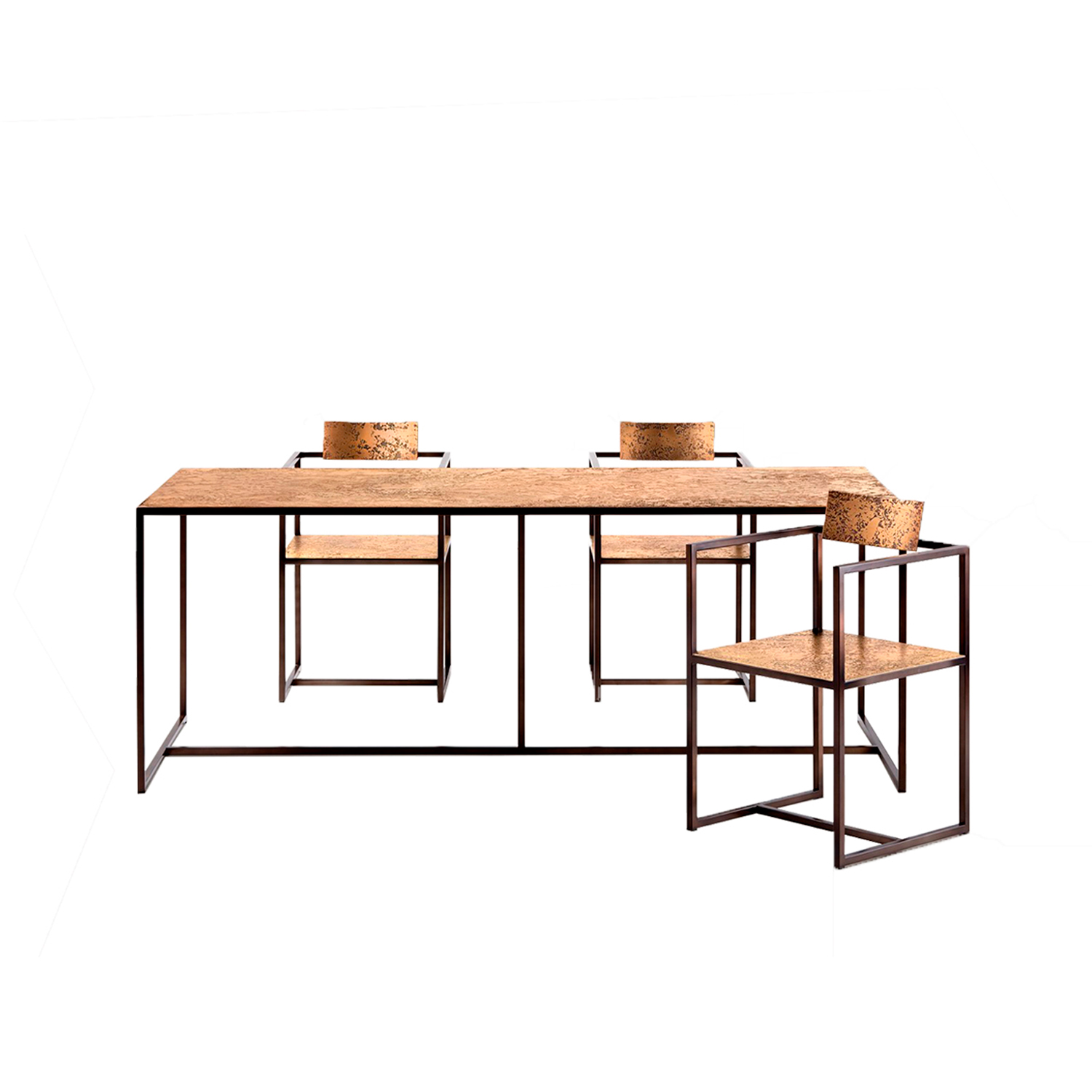 Riviera Table - Dining table with tubular metal structure.‎
