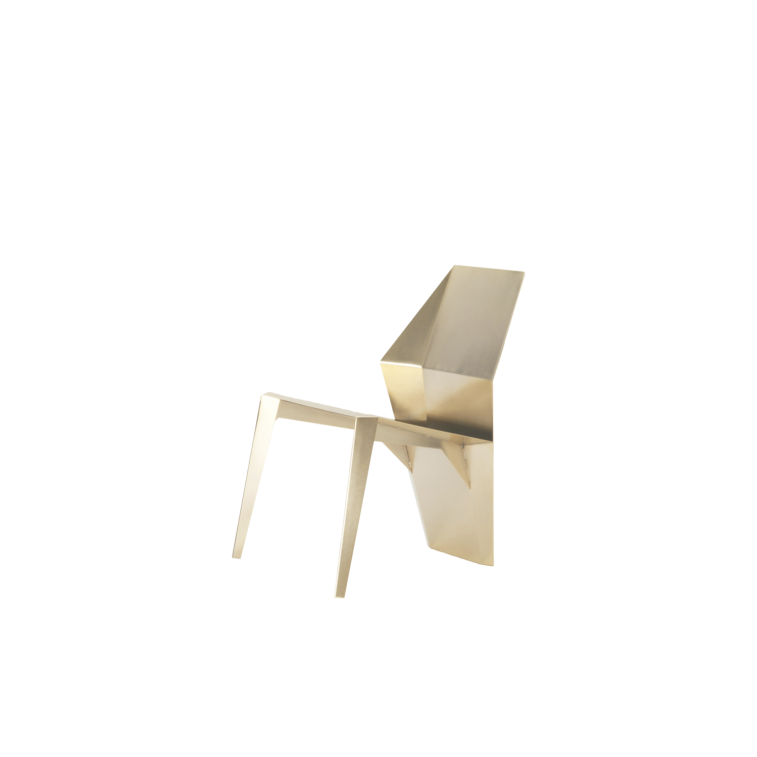 Centaurus Chair - Gold Limited Edition - A beautiful, unique jewel, like a sculpture, perfect for any interior style. Made by 2 mm thick steel plates, laser cut, bent and shaped, welded and ground. The finishing consists of different steps, so to achieve the perfection required for such an exclusive product; the last touch is always handmade, to get a perfect result, with a soft satin finish, reflective but not mirror-like.   | Matter of Stuff