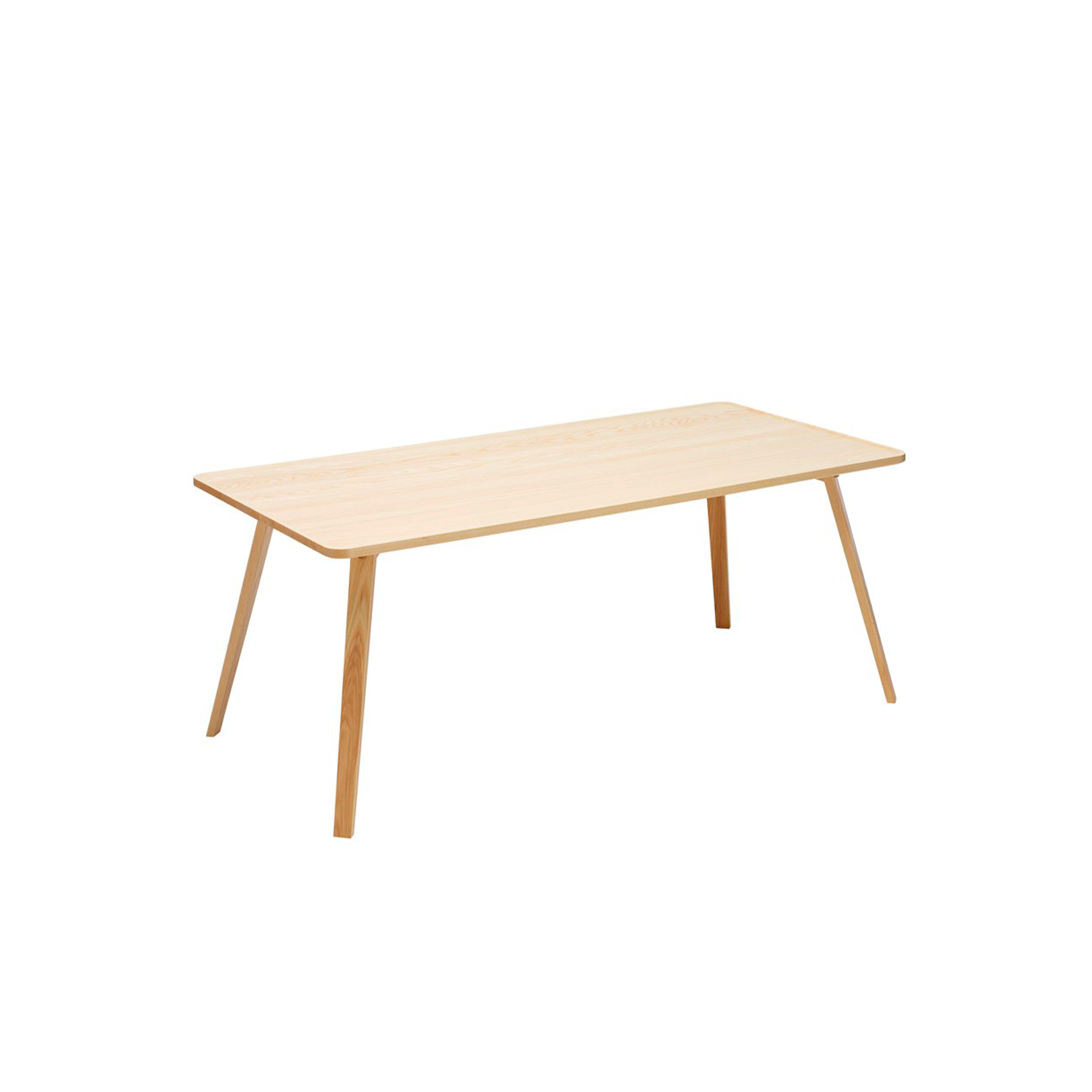 Mill Rectangular Table - Mill (2012) is a table with a solid wooden top and legs. The tabletop has been milled down to produce its distinctive appearance. Mill is available with a round, square or rectangular top in a number of different sizes and in heights of 460, 590 and 720 mm. The table is made of solid wood, so it can be sanded down and relacquered a number of times, making it suitable for use in settings where it is subjected to a lot of wear and tear.  Mill comes in a choice of oak, birch, ash, standard stains on ash and white glazed oak or ash. The table is also available in standard colors with tabletop made in MDF. Special sizes and other finishes upon request. You can use Mill to furnish cafés, kitchens and living rooms, or in hotels, schools, waiting areas etc.  Additional heights and dimensions are available, please see technical sheet attached and enquire for more details. | Matter of Stuff