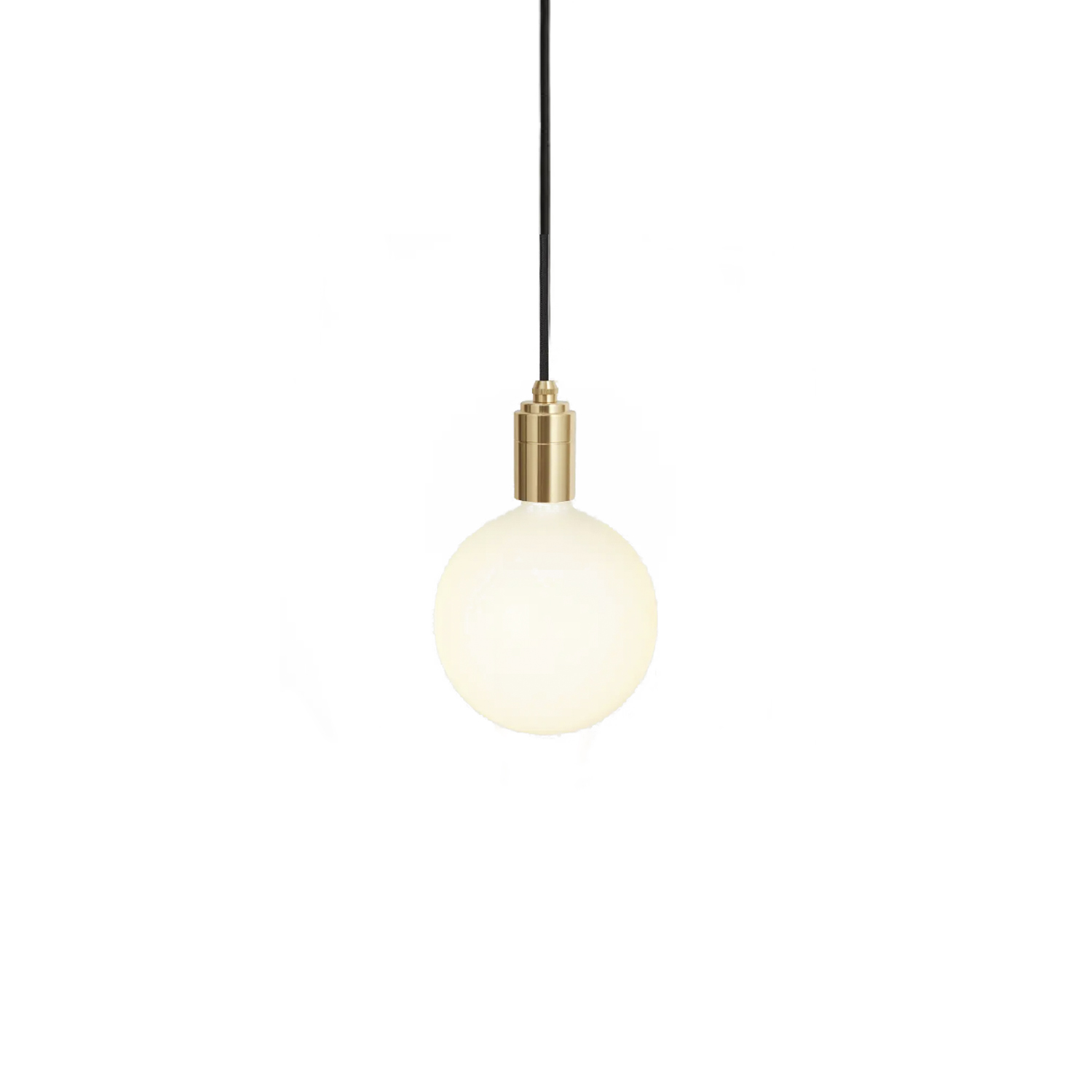 Sphere IV Pendant Light - The deliberately oversized form of the Sphere IV bulb makes for an instant statement in any interior space.  The bold size and stylish, matte white finish draw the eye when turned off, while providing high performance and perfect dimming when turned on.  Paired with one of our Walnut, Brass or Graphite pendants, this combination is an ideal solution for a single ceiling light or matched with multiples to make a bigger impact.  Features – Dimmable – Large, spherical shape – Energy-efficient, LED technology – Dim to Warm and flicker-free behaviour – Walnut, Brass or Graphite pendant finishes – 3 metre length cord for maximum versatility   | Matter of Stuff