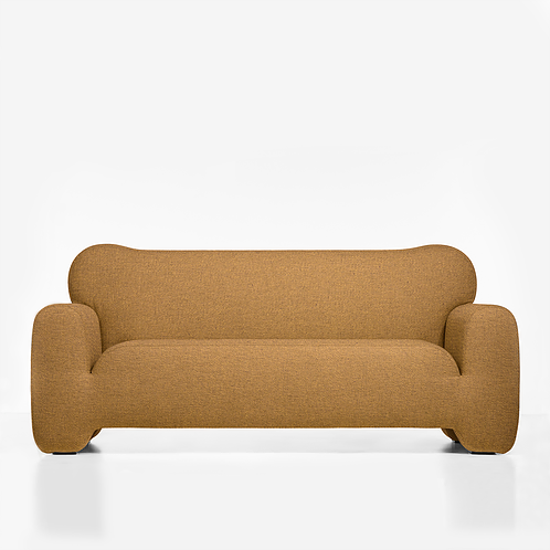 """Pampukh Sofa - """"Pampukh"""" in Ukrainian means traditional round fluffy bun, sprinkled with sugar powder.Matte It is so comfy and soft, that you would desire to hug it with your arms and lean cheek.</p>  