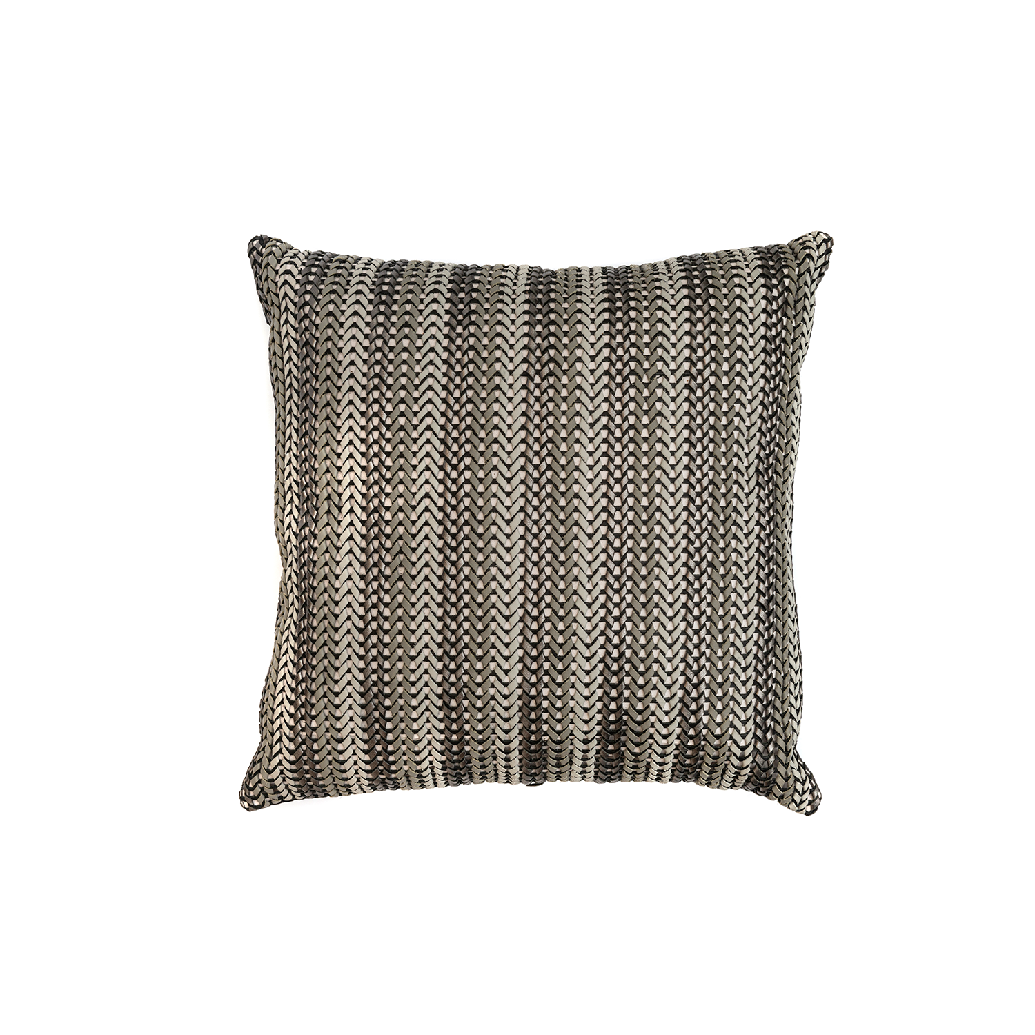 Lanca Stripes Woven Leather Cushion Square - The Lanca Stripes Woven Leather Cushion is designed to complement an ambient with a natural and sophisticated feeling. This cushion style is available in pleated leather or pleated suede leather. Elisa Atheniense woven handmade leather cushions are specially manufactured in Brazil using an exclusive treated leather that brings the soft feel touch to every single piece.   The front panel is handwoven in leather and the back panel is 100% Pes, made in Brazil.  The inner cushion is available in Hollow Fibre and European Duck Feathers, made in the UK.  The Lanca Stripes Woven Leather Cushion is available in multiple colours of leather and suede leather. Please enquire for colour combination, see colour chart for reference.   | Matter of Stuff