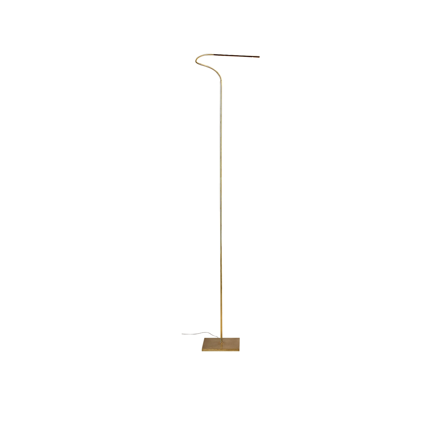 Lola F Floor Lamp - Lola is discreet and practical. Its inconspicuous presence places the emphasis on light, directing it exactly where needed. Hand crafted entirely in brass, it is available as a floor or table lamp. With minimal design, Lola is the essence of light. | Matter of Stuff