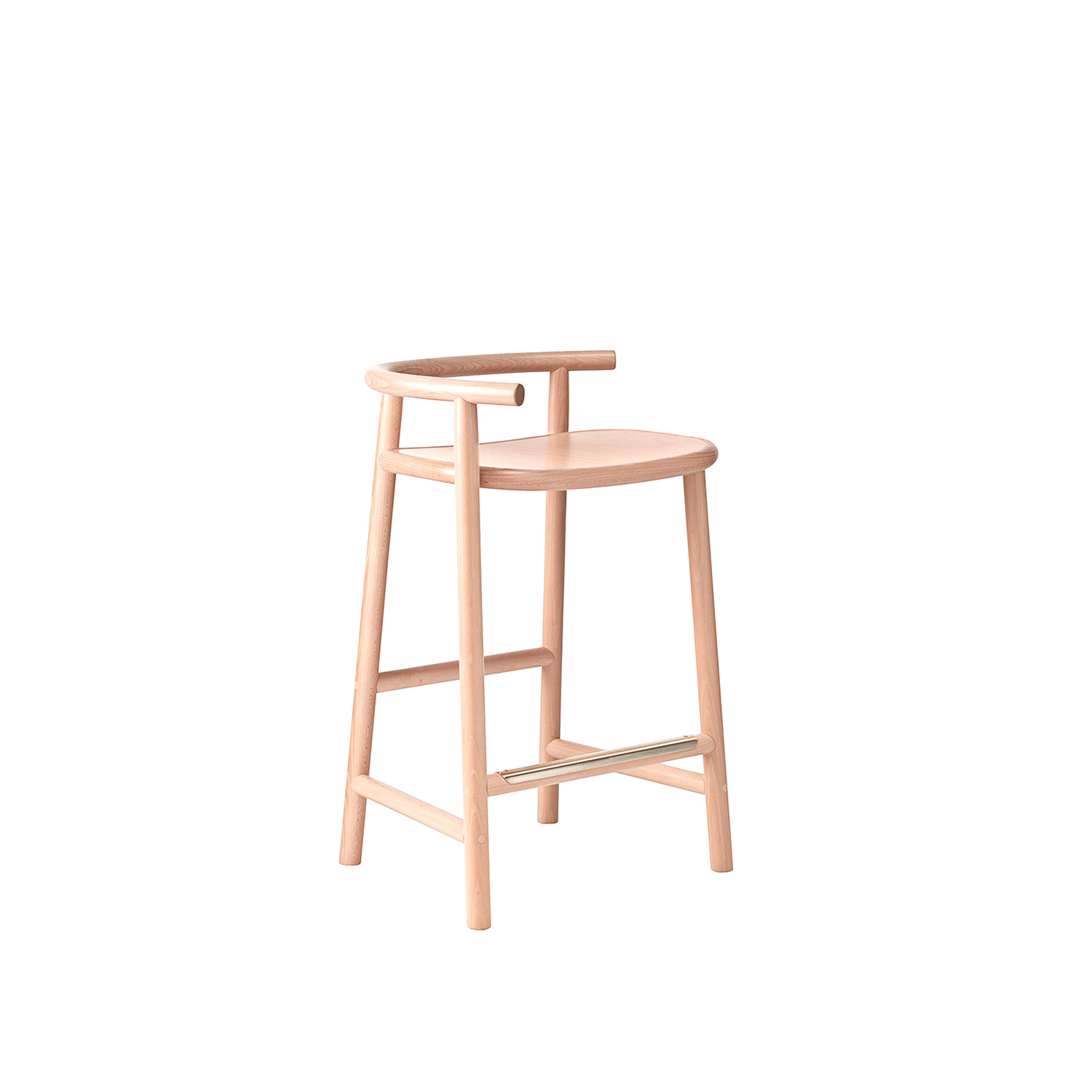 Single Curve Counter Stool - The combination of straight lines with a single bent section creates a strong sense of contrast, which in turn further highlights the attraction of the bentwood design. The utmost care was taken to ensure that the materials, part sizes, and proportions all remain true to traditional Thonet design. | Matter of Stuff