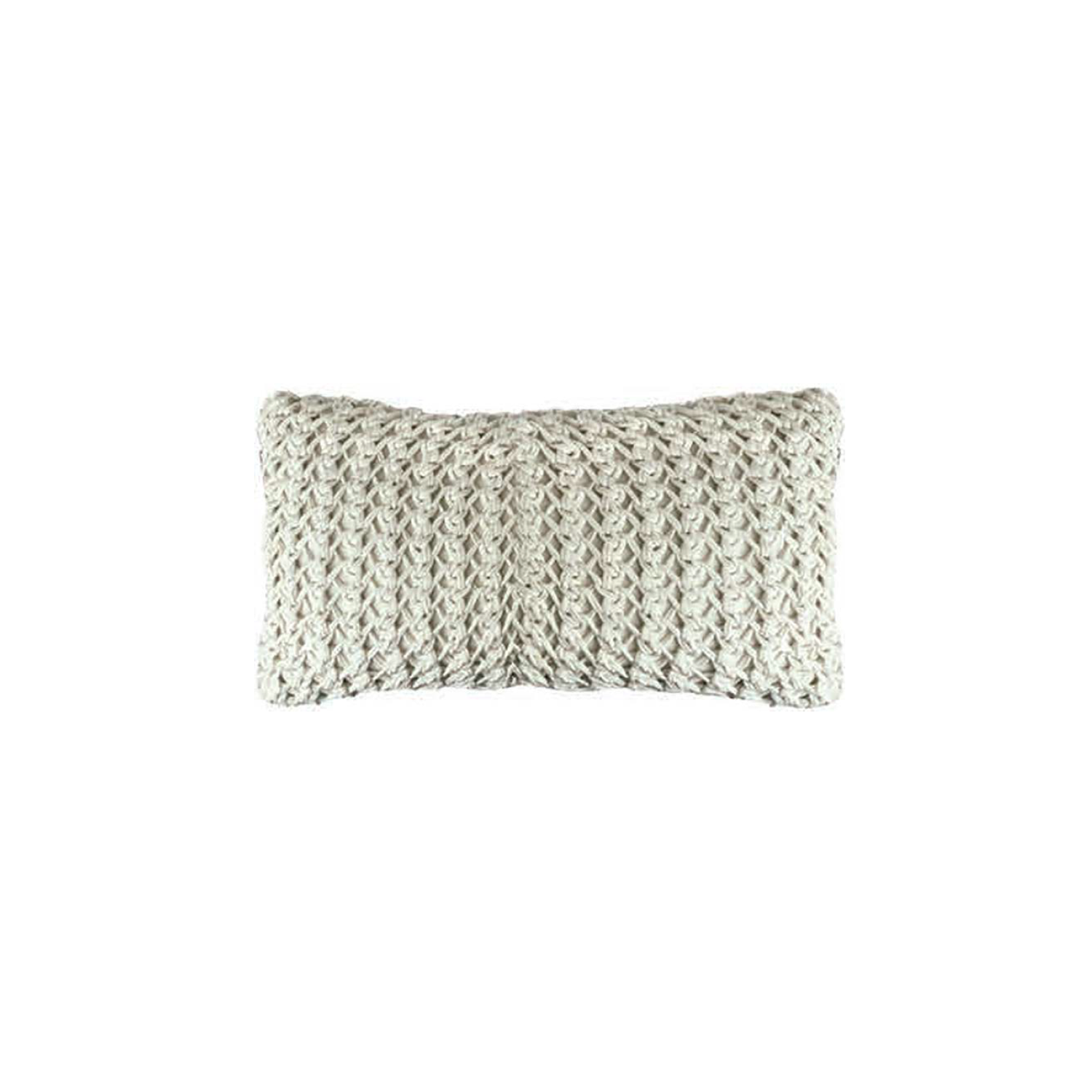 Gaia Knitted Cotton Cushion Small - The Gaia Line is carefully knitted within a trained community of women that found in their craft a way to provide for their families, each one of these cushions and throws is unique.  Elisa Atheniense Home soft indoors collection is made with natural cotton fibres, eco-friendly, handwoven or elaborated using traditional hand-loom techniques. The use of organic materials brings softness and comfort to the space. This collection combines their mission for responsible sourcing and manufacturing.  The hand woven cotton, washable cushion cover is made in Brazil and the inner cushion is made in the UK. All cushions come with Hollow Fibre filling. European Duck Feathers are optional upon request at an extra cost. Please enquire for more information and see colour chart for reference.   | Matter of Stuff