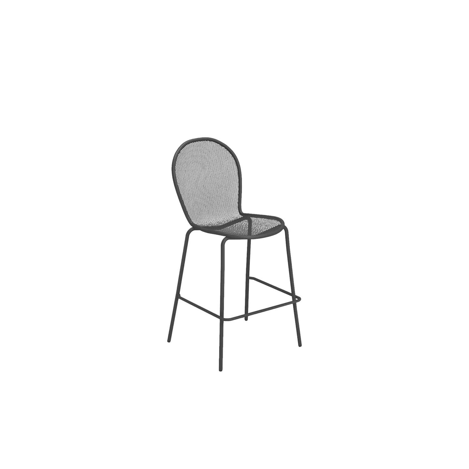 Ronda Barstool - Set of 2 - With over two million pieces sold, this chair has long been a landmark worldwide, with easy design, sober and elegant lines. These two barstools are made from steel and come in nine different finishes. They are outdoor furniture and are perfect for outdoor bars.   | Matter of Stuff