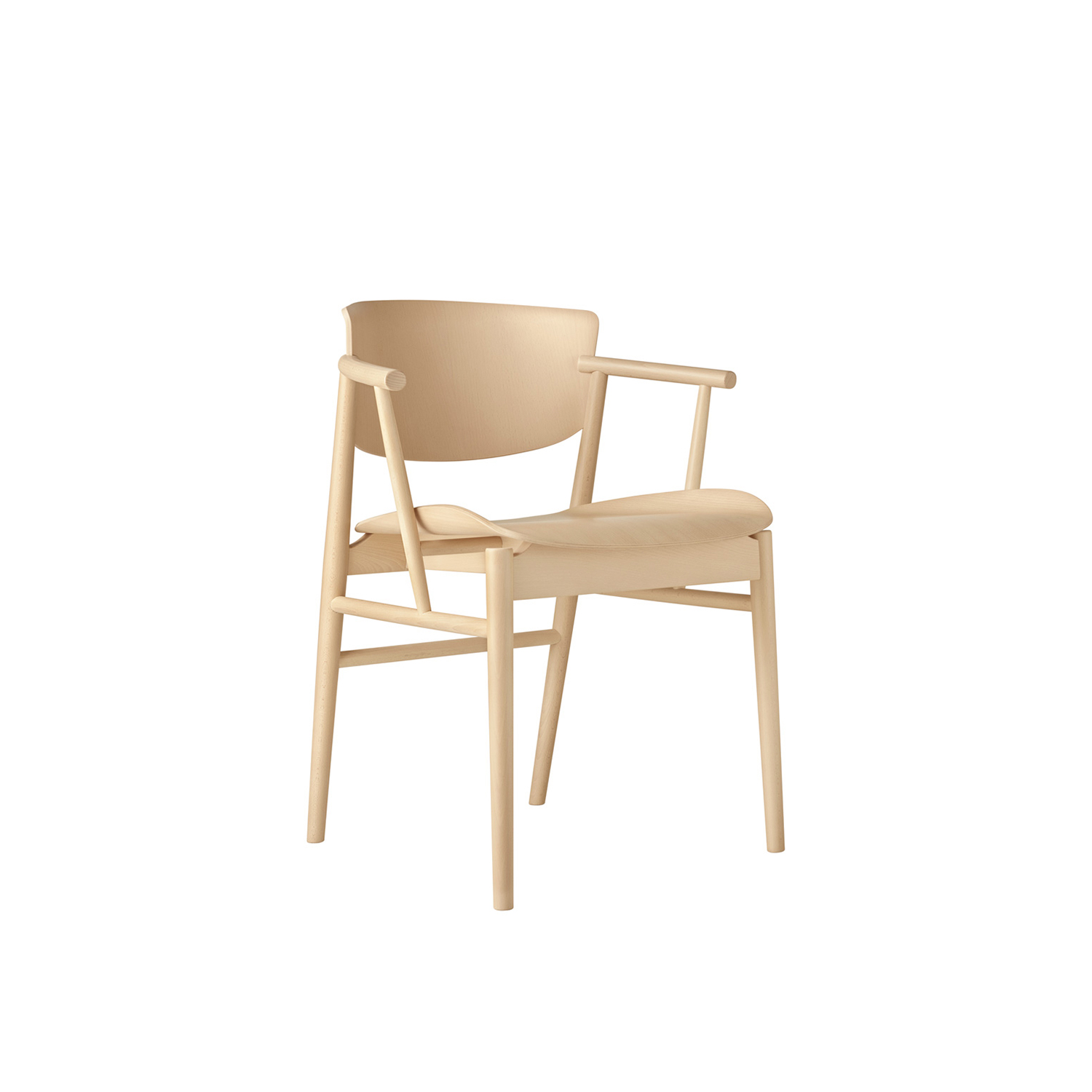 N01 Armchair - Created by the merging of Danish and Japanese aesthetics and purity, N01 brings back nature and embraces today's modern life. A life where the dining room is not only a place to enjoy a meal but it's also a place to be productive, a place for conversation, a place to relax from a busy workday or just everyday life. 