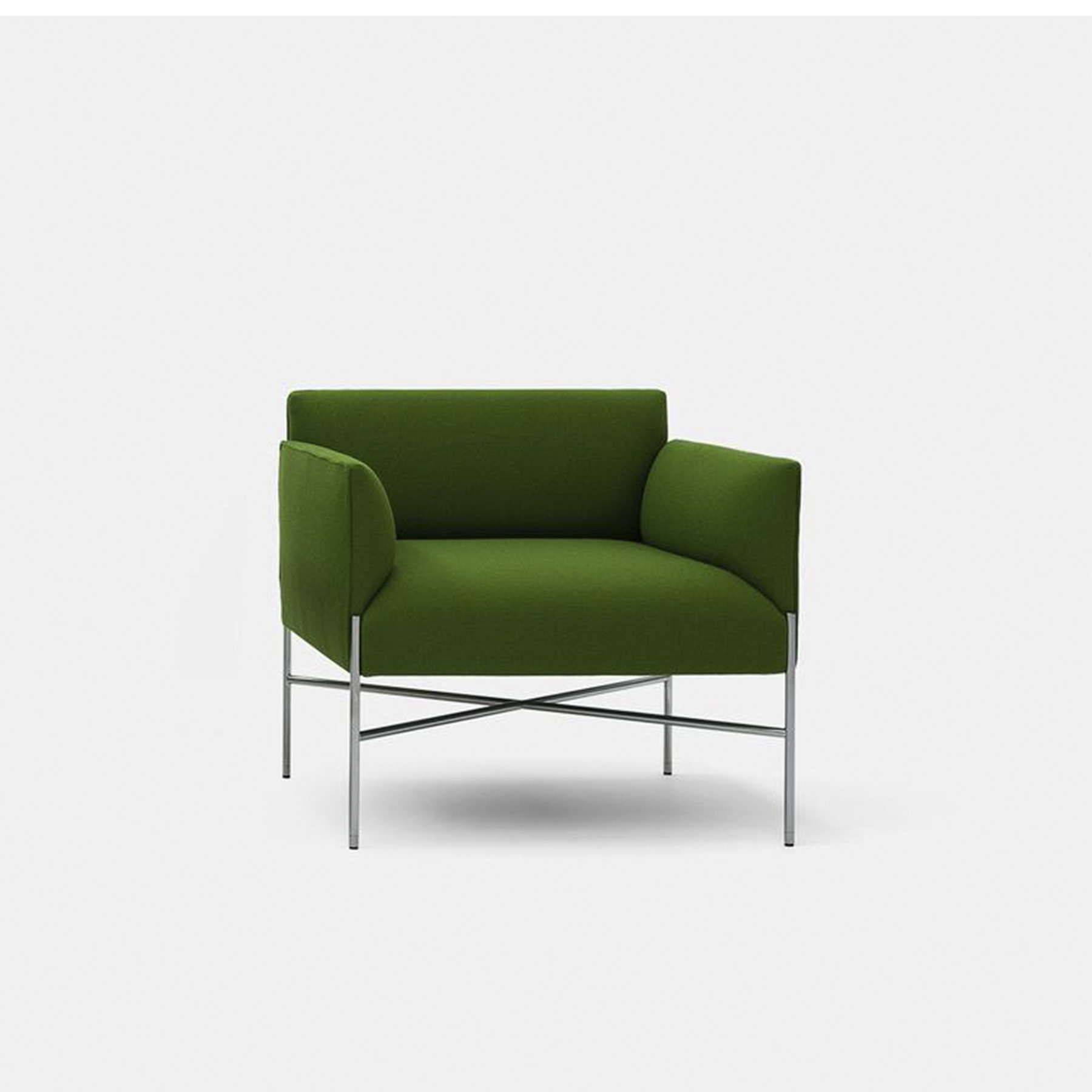 Chill-Out Lounge Armchair with Armrests - Chill-Out is a system of sofas and armchairs that can stand alone or create a vast range of different linear or corner compositions. It features a light, slim base and cosy, comfortable cushioning, to which back and armrests can be added. An ideal combination both for domestic and collective spaces, particularly in the version with a built-in coffee table. Chill-Out as all our models of our collection is obtained from the value of materials used, the high skills of our workmanship and the freshness of our realisation that cross the time.  | Matter of Stuff