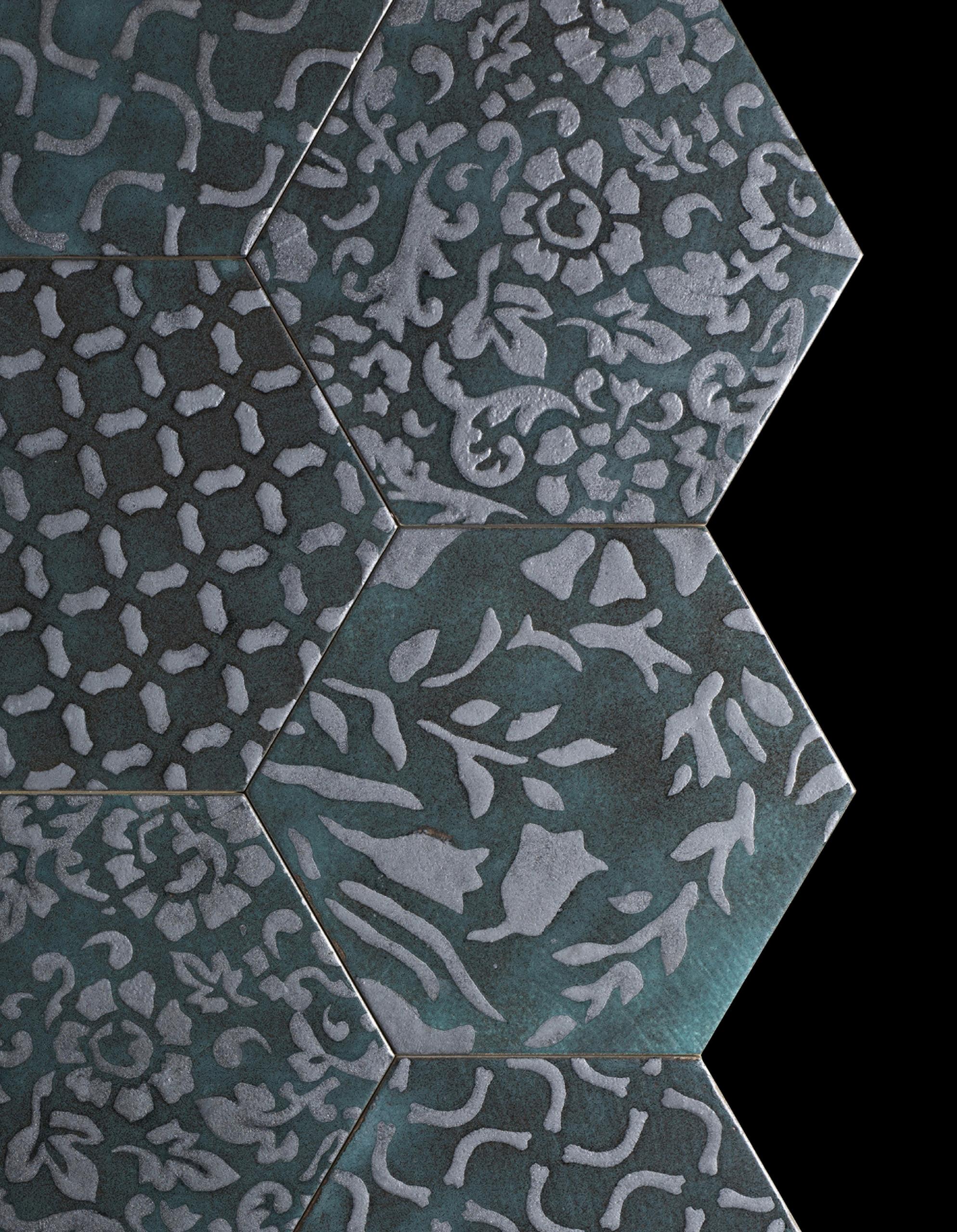 Hexagon Tiles Decorations