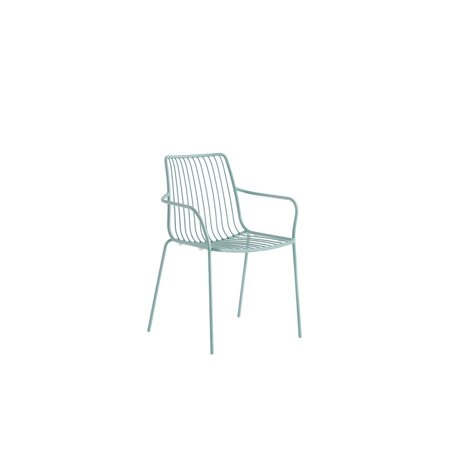 Nolita Armchair High Back - Nolita is a family of outdoor seatings which recalls the origins of a historic course, started by Mario Pedrali in 1963 with his first metal garden chairs. Armchair with high backrest, completely made of steel and designed specifically for outdoor use. Stackable. A seat cushion is also available.  | Matter of Stuff