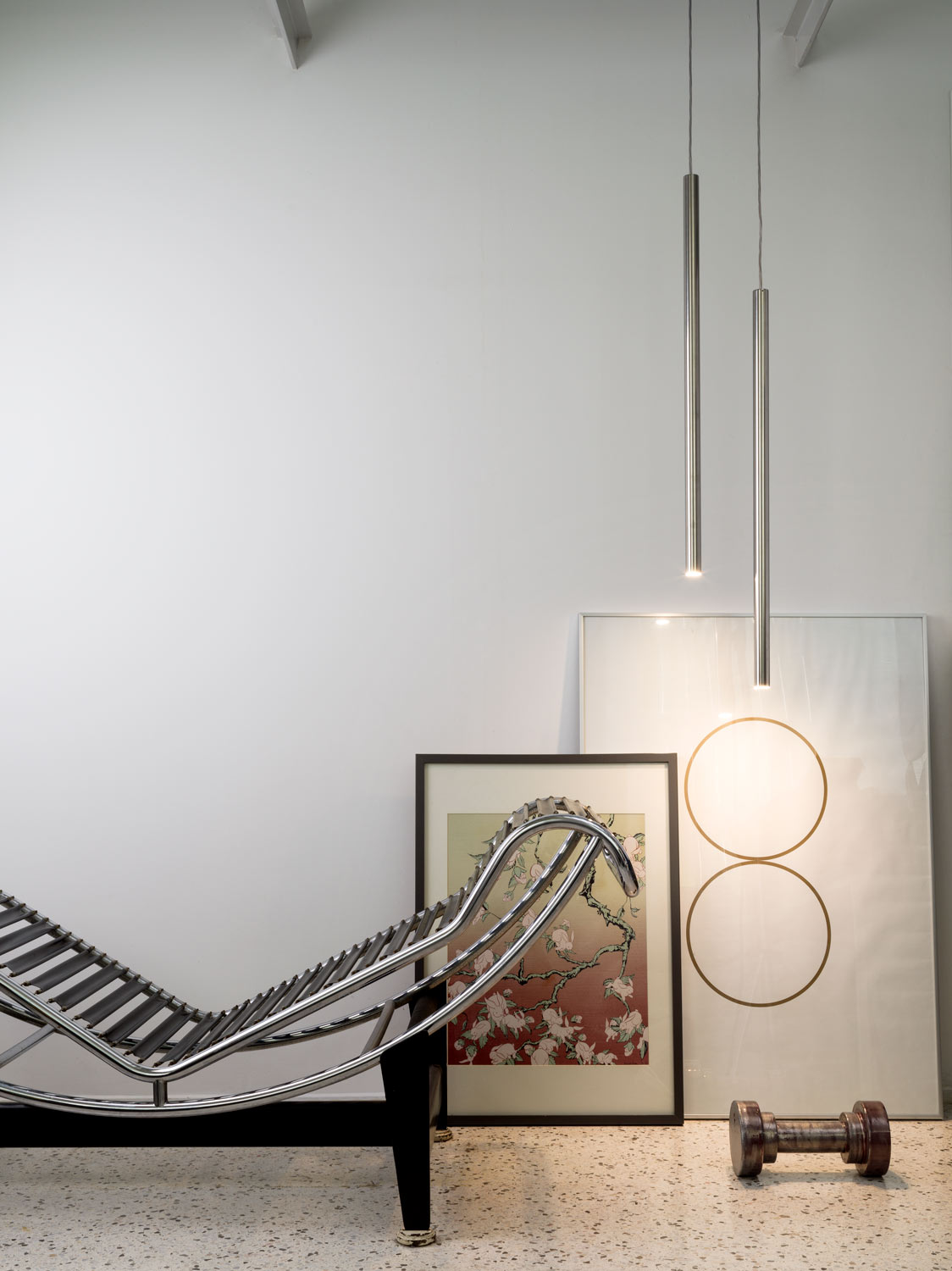 Canna Nuda Metallo Pendant Lamp - <p>Canna Nuda Metallo is a suspension and ceiling lamp. Ceiling lamp adjustable.</p> <p>Chromed or white finishing.</p>  | Matter of Stuff