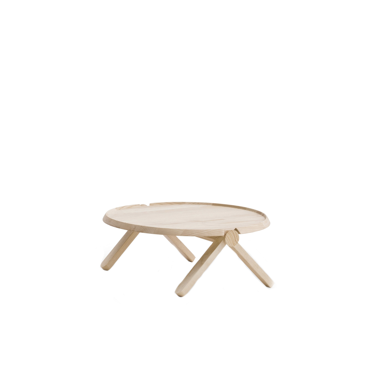 Lilliput Low Table - Lilliput is a low coffee table, made of solid or lacquered Ashwood, with two contrasting natural wood knobs.  These knobs allow Lilliput to be flat-packed for swift and environmentally friendly transport and only come in natural Ashwood.  | Matter of Stuff