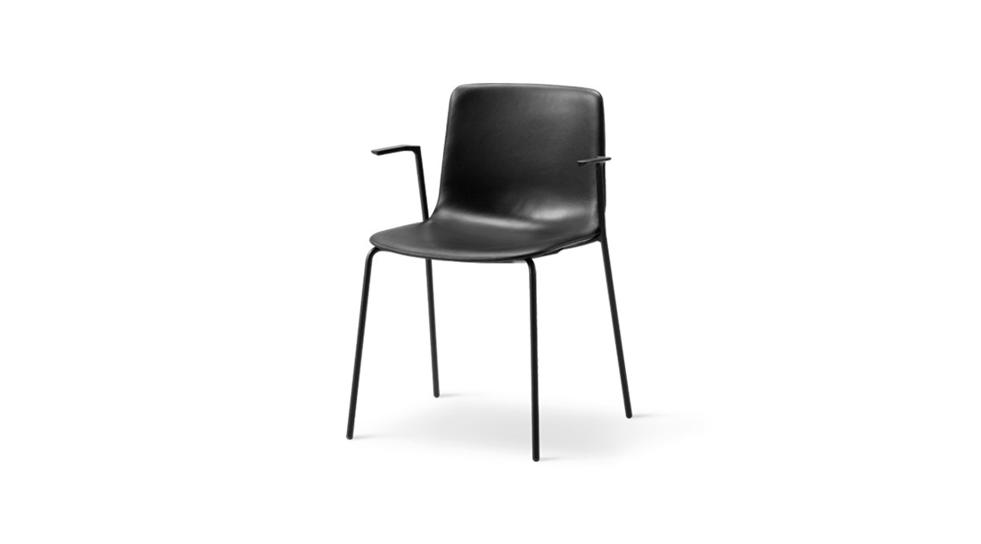 Pato 4 Leg Tube Base Armchair Fully Upholstered - Pato is a carefully crafted multipurpose chair in eco-friendly polypropylene that can be used outdoors. The chair is available with a range of optional features including coupling. The chair can be tuned from basic to exclusive with optional upholstery.  Pato is a prime example of our focus on sustainability and protecting the environment, reflected in a chair that's 100% renewable and recyclable. All components can be incorporated into future furniture production, thus contributing to a circular economy by minimising the use of materials, resources, waste and pollution.   Merging traditional production methods with cutting-edge technology, Pato is a human-centric, highly versatile series of multi-purpose functional furniture that draws on our in-depth experience with materials, immaculate detailing and heritage of fine craftsmanship. Allowing us to apply our high standards of texture, finish and carpentry techniques to an array of materials in addition to wood for products aimed at a mass market.   With its clean lines and curves, Pato echoes the ethos of Danish-Icelandic design duo Welling/Ludvik. Demonstrating their belief that good design has the ability to be interesting, even when reduced to its most simple form. Where anything extraneous is eliminated and every detail has a purpose.   Together we spent nearly three years developing the shell structure to have a soft surface that's also wear and tear resistant. Enhancing the chair's ability to optimally conform to the user's body is a subtle beveled edge. A technique from classic cabinetmaking, which gives the chair a sense of handcrafted finesse. Each Pato is detailed and finished by hand by our highly skilled crafts people, who refine the beveled edge and the silky, resilient surface. Setting a new standard for the execution and finish of polypropylene.   Since the success of its initial launch, we've expanded Pato into an extensive collection of variants, fe