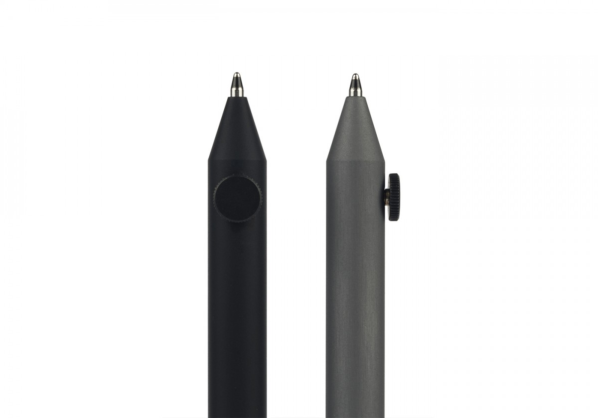 Neri Pen - <p>Pen in anodised aluminium with screw in black brass. Neri pen supplied with D1 sphere refill.</p> <p>Neri is a family of pens and mechanical pencils – and the debut of Internoitaliano in the world of deskware – designed by Giulio Iacchetti. The sizing, velvety finish and screw placement have been carefully studied for maximum comfort. Neri makes a clean break with the usual spring mechanisms and classic pen caps. Adjustment of lead length – and, unusually enough, of the position of the pen refill as well – is governed by the pressure exerted by the screw, a method borrowed from the point regulators of the compasses used in technical drafting. Over the years the Neri family has grown to include the Short version – like the pencils used by architects – and the Wood version, in pear wood.</p>  | Matter of Stuff