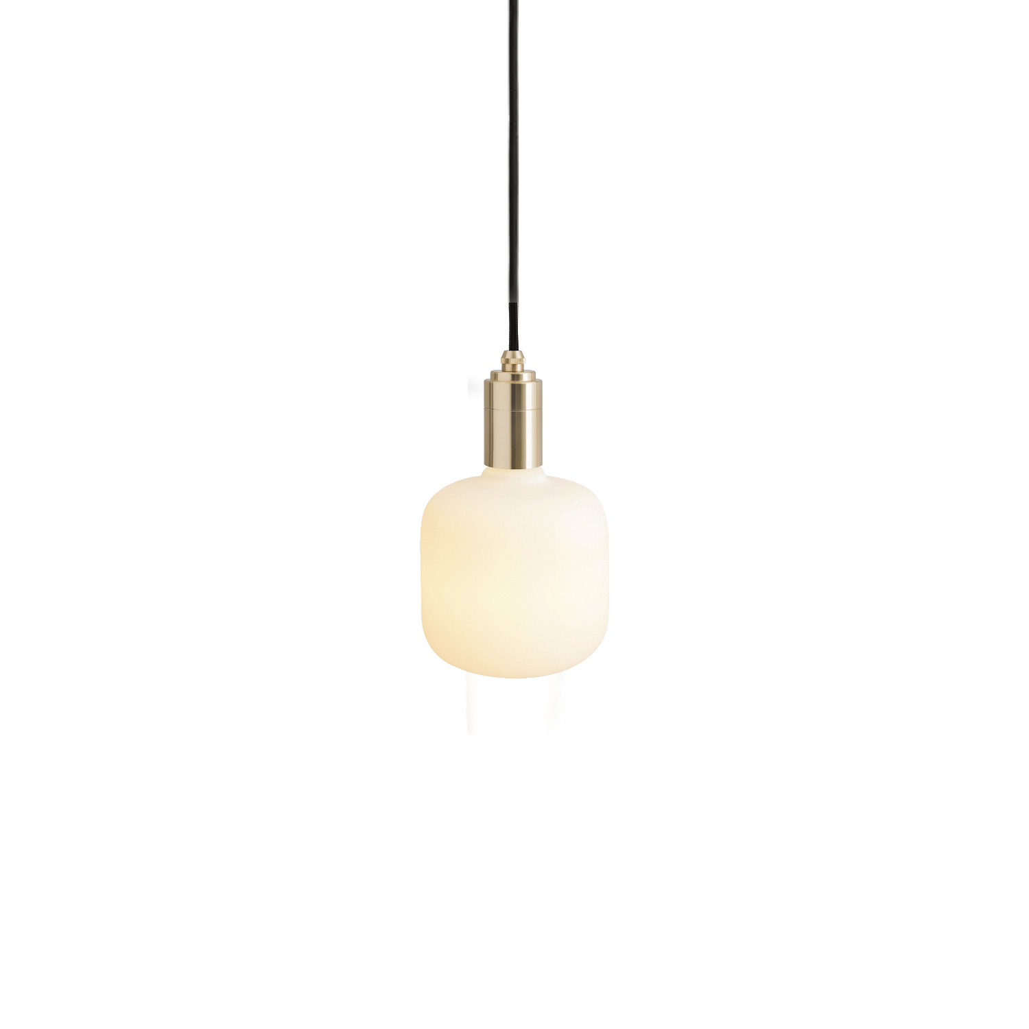 Oblo Pendant Light - The Oblo Pendant Light combines the geometric shape of the Oblo bulb with the minimalist Tala pendant in Brass, Graphite, Oak or Walnut finish, designed to create a single lighting solution for any interior space.  The matte-white glass finish and high lumen output of the Oblo bulb combine to produce a soft, even light. Filling a room, hallway or corner space, this is perfect for creating a sense of calm in your home or workspace.  Paired with the Brass, Graphite, Oak or Walnut pendants, this is a beautiful and decorative lighting fixture all in one.  Connect to one of our recommended dimmers for maximum performance.  Features – Dimmable – Strong geometric shape – Energy-efficient, LED technology – Matte white glass finish – Available with a Brass, Graphite, Oak or Walnut pendant – 3 metre length cord for maximum versatility | Matter of Stuff