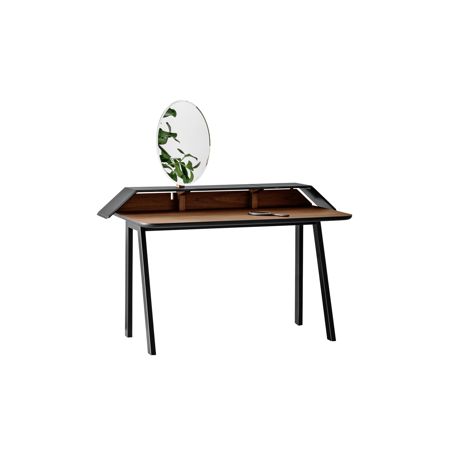 Tolda Desk - Tolda is a neo-romantic, pop element; the adjustable mirror reveals the inspiration to the classic toilette mobile, now revisited with a contemporary approach, with the right humour.    Matter of Stuff