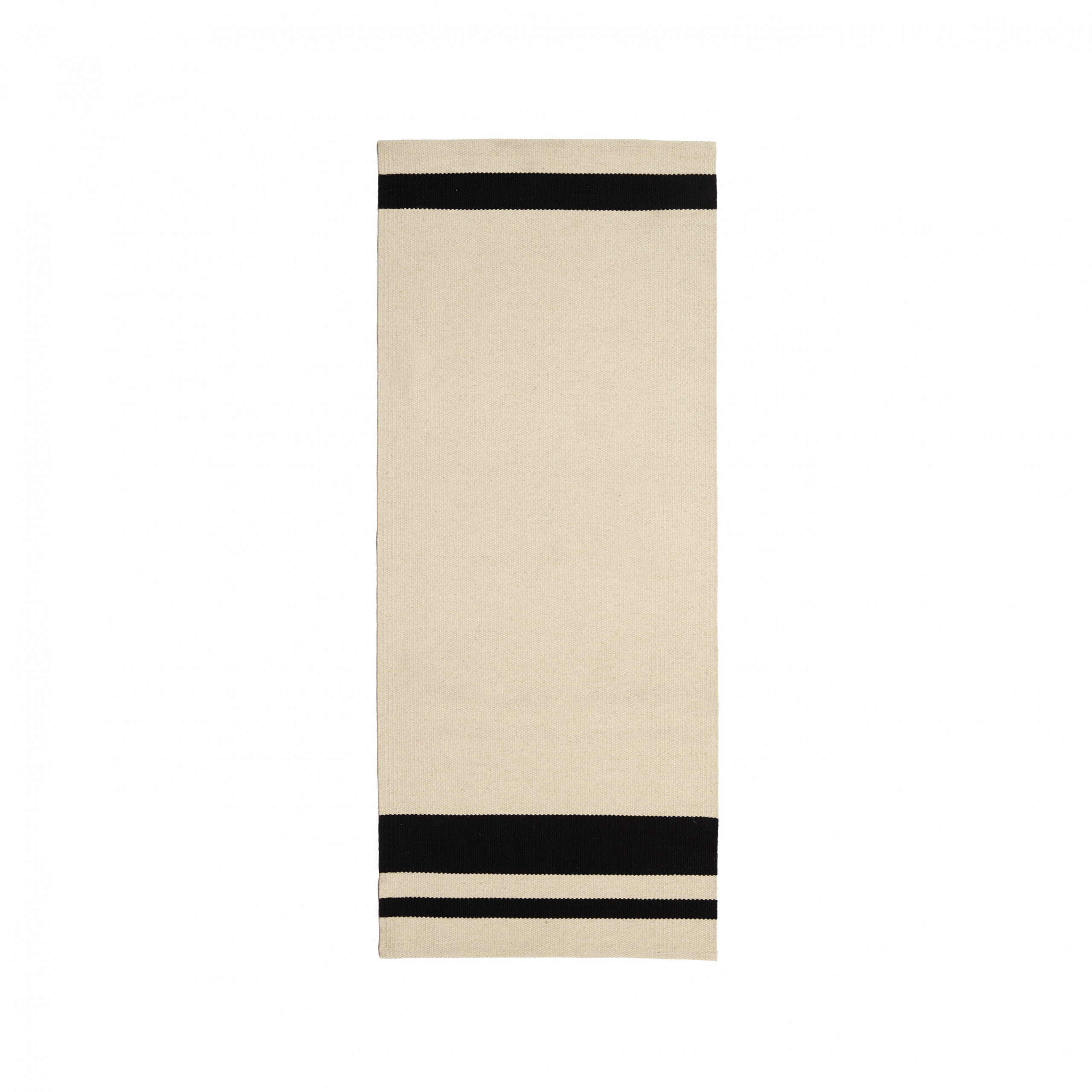 Frenzy Small Rug - The Alfred collection consists of five series (Fran, Frenzy, Lucy, Ivy, Billie) of handwoven minimalist carpets made by Belgian textile designers Marie Mees and Athérine Biasino. Firstly, all carpets are handwoven with a mixture of two top-shelf wools from New Zealand and Portugal, the first offering the right softness and look, the other adding strength. Secondly, the designers envision a minimalist aesthetic that resonates timelessness and not trendiness. In fact, hyped colours are fiercely avoided. By offering highly durable and supremely sober carpets, the Alfred Collection honours the archetype of the carpet, pure in form and in function, making it the perfect textile for the minimalist interior of the design admirer. Composition of the carpet is a mixture of Merino, New Zealand and Beira Alta (Portuguese wool).  | Matter of Stuff