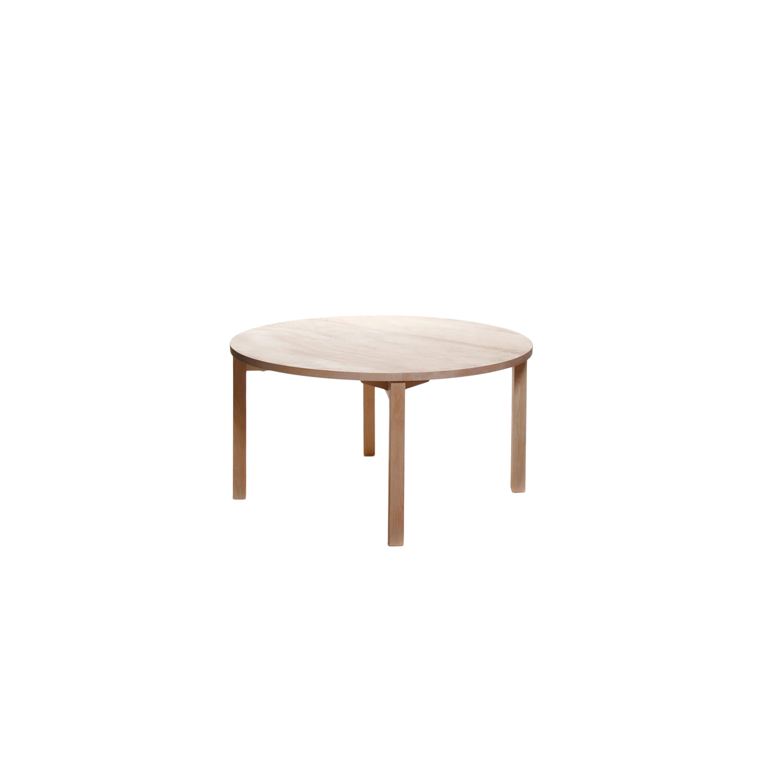 Periferia Round Dining Table - The round Periferia dining table is simple and minimalistic, letting the well-made surfaces and beautiful, unique wood material take the spotlight. The simple forms also make it a suitable solution to select with almost any chair.  This dining table is available in birch, ash, oak with an oiled finish, and can be ordered in three different sizes.    Matter of Stuff