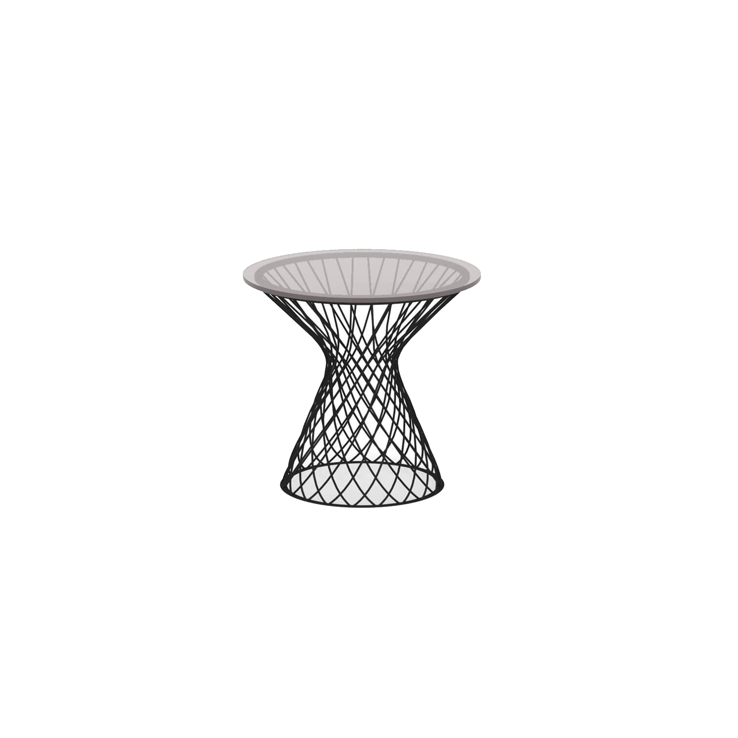 Heaven Round Coffee Table - <p>The idea underlying the Heaven project is that of lightness derived from forms emerging from hollow spaces bordered by interweaving lines. The thin, woven steel frame is the distinctive feature of a collection marked by well-proportioned lines and overall harmony. Steel chairs paired with transparent glass tops lighten the table surfaces, lending them an intangible quality.</p>  | Matter of Stuff