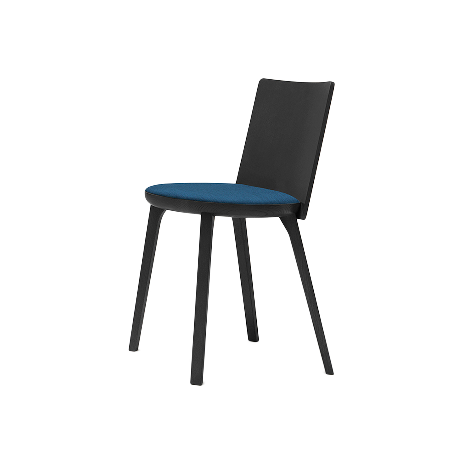 Riquadra Dining Chair - <p>Riquadra dining chair is part of a family of seating with essential geometric lines. The circular seat and square back have the exact same area, and intersect to create an opposition of forms, where one geometric figure or the other becomes predominant depending on the vantage point. </p>