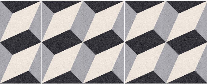Assonometria Decorative Terrazzo Tiles