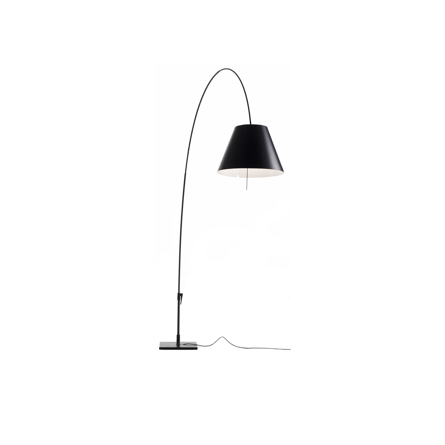 Lady Costanza Floor Lamp -  The telescopic stem and 360° rotation on the base give Lady Costanza elegant poise and flexibility, allowing the user to easily adjust the height and direction of the light. The extraordinarily limited weight of the structure and the handle on the base facilitate movement. | Matter of Stuff