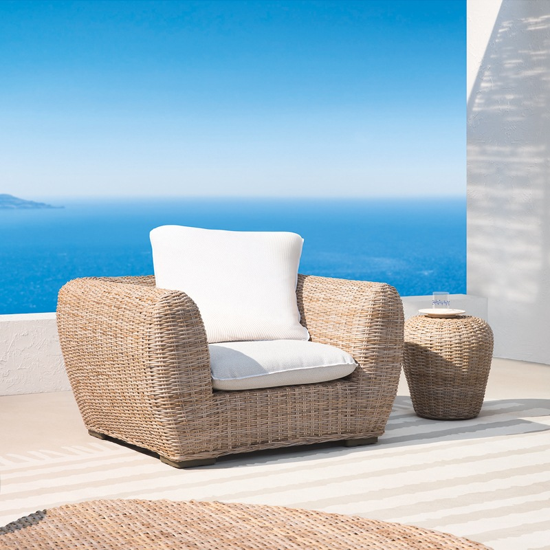 InOut 625 Armchair - <p>A clever combination of materials, shapes and colours characterises the Inout collection, not only thought for outdoor use but also for indoor fitting. Teak, ceramics, stone, aluminium and hand woven polyethylene are the materials used and mixed to create this wide choice of chairs and tables, sofas, armchairs and other piece of furniture.</p>  | Matter of Stuff