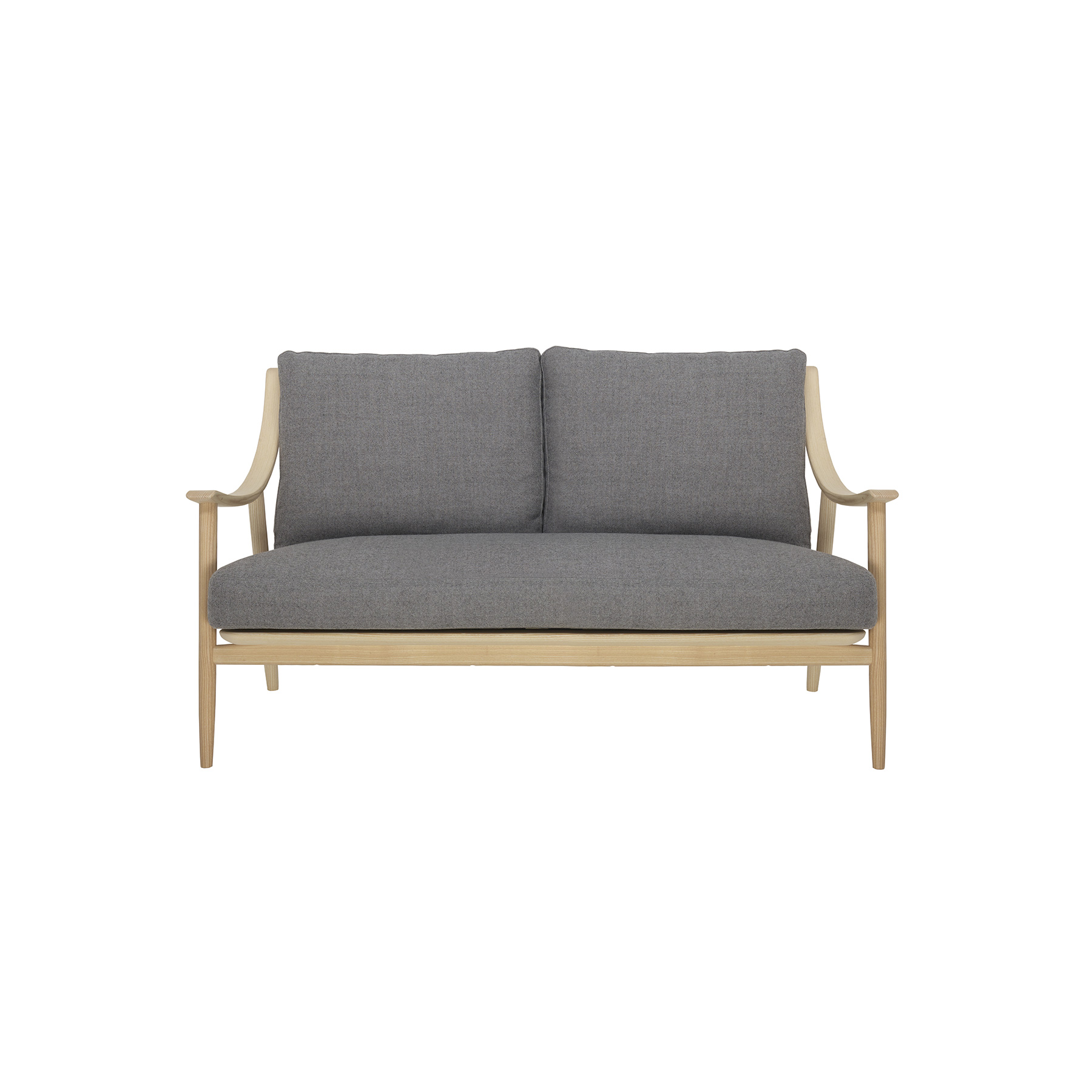 Marino Sofa - The Marino chair created in solid ash timber references the qualities and features of Ercol design classics through considered design aesthetic. Its elegance and flowing lines, featuring turned elements, combined with exceptional craftsmanship create a striking, contemporary armchair. The Marino collection is inspired by the Ercol design classics, its smooth flowing elegant lines are created by steam bending the solid ash arms, using traditional craftsmanship and modern furniture making techniques, to create a strikingly contemporary and comfortable range. The Marino sofa created in solid ash references the qualities and features of ercol design classics. The smooth elegant and flowing lines are created through traditional craft, including steam bending solid timber and modern furniture making skill and techniques. The feature turned spindles, and deep cushioning combine to create a striking and contemporary sofa that is comfortable, seating three with ease. The Marino collection is finished in your choice of wood finishes and a selection of paint finishes that both protects the timber whilst enabling you to choose the look to match your style and décor.   | Matter of Stuff