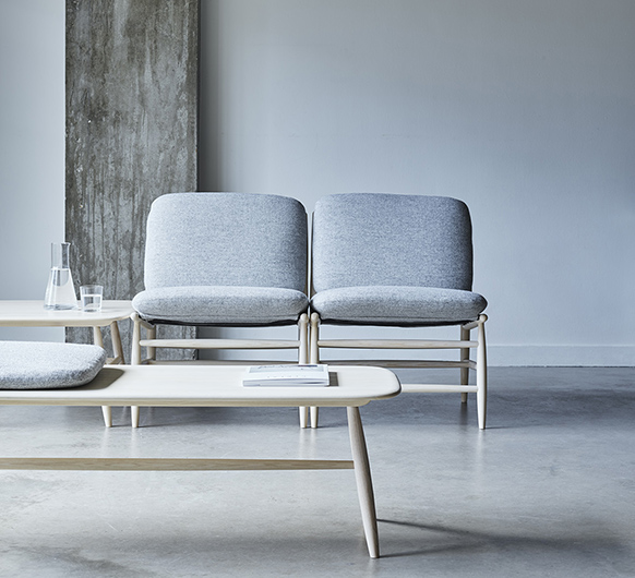 Von Bench With Pad - <p>Taking inspiration from one of Lucian Ercolani archived designs, the new Von Collection designed by Hlynur V. Atlason, is the latest addition to the ercol portfolio. Catering for three areas - lounging, socialising and relaxing it comprises of seating, bench and table units which can be fitted together to create bespoke configurations, tailored to the requirements of both domestic and commercial spaces. The VON bench with pad, made from solid ash, can be used to sit alongside the endless configurations of the collection, to meet the needs at home, at work and at play. The bench can also come without a pad and turns into a long coffee table. Available in a selection of colours, finishes, while the pad is available in many different fabrics and leathers. Also available in Solid Walnut. </p>