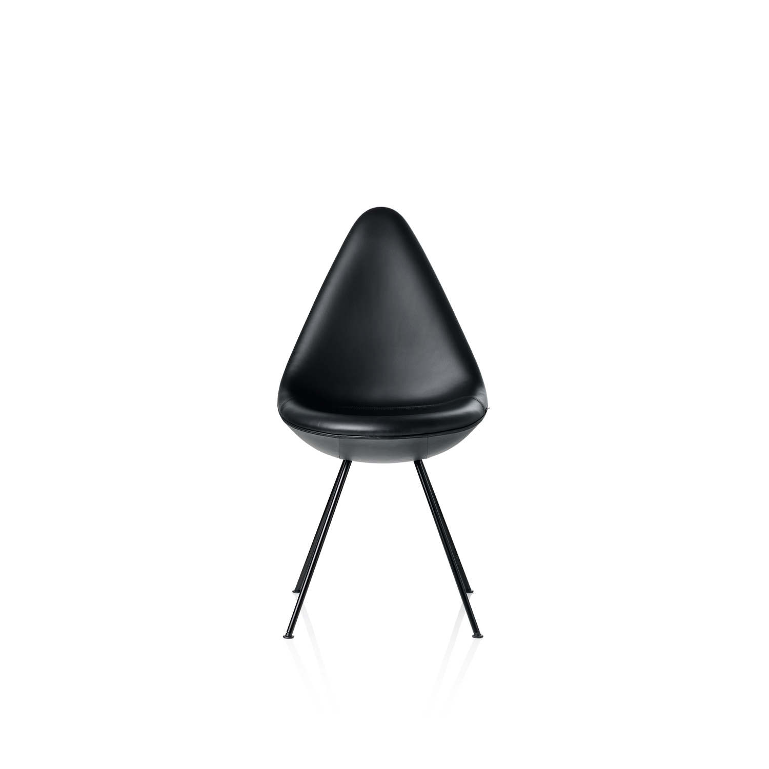Drop Chair Black Edition - The Drop is a small chair with a big personality and it is as fresh and vibrant as a new design but with a rare heritage. 