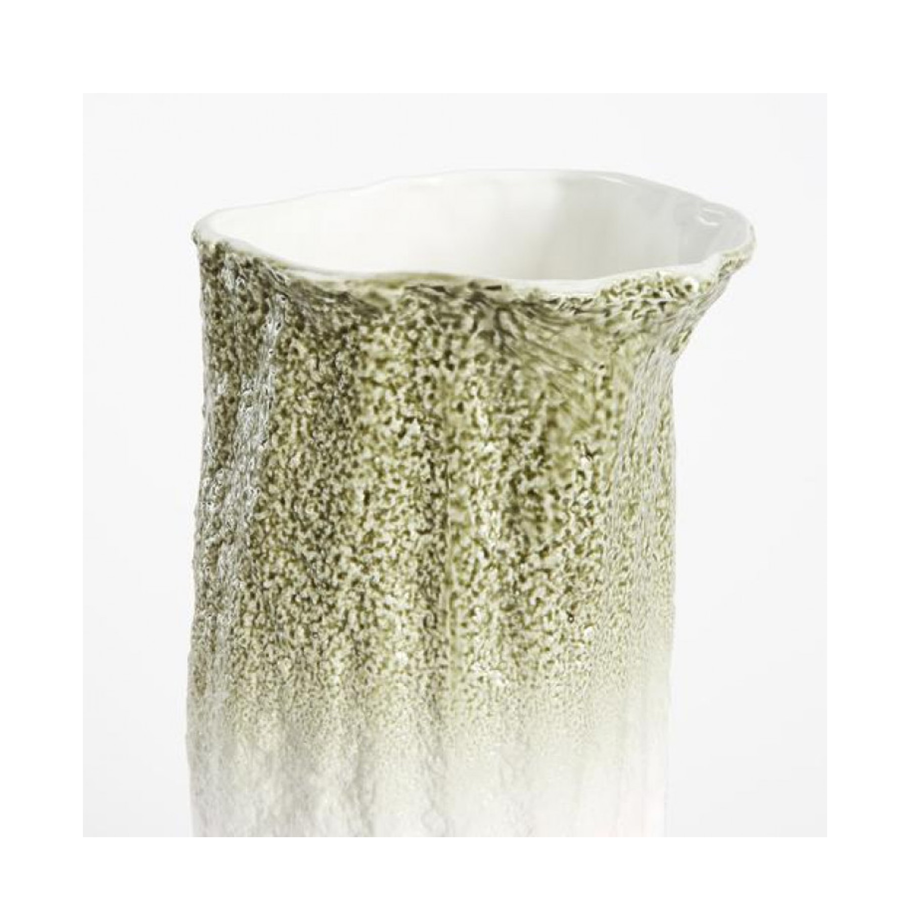 Stegreif Vase Green - Stegreif Vases, a collaboration with Johannes Nagel, is a collection of vases that focuses on the impromptu and spontaneous character of the pieces, including their repetition. Each piece is made from fine bone china with coloured glaze applied by hand, making each vase original whilst running along the same design directive. Made in England. Hand wash only.   Matter of Stuff