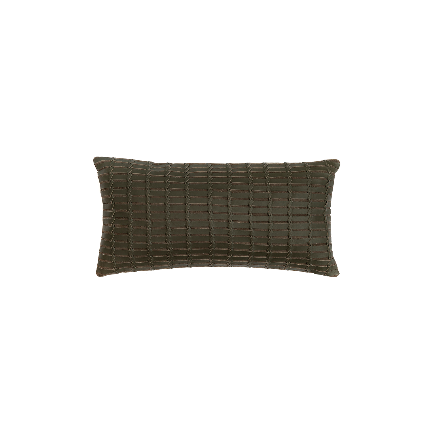 Maxi Indochina Woven Leather Cushion Small - The Maxi Indochina Woven Leather Cushion is designed to complement an ambient with a natural and sophisticated feeling. This cushion style is available in pleated leather or pleated suede leather. Elisa Atheniense woven handmade leather cushions are specially manufactured in Brazil using an exclusive treated leather that brings the soft feel touch to every single piece.   The front panel is handwoven in leather and the back panel is 100% Pes, made in Brazil.  The inner cushion is available in Hollow Fibre and European Duck Feathers, made in the UK.  Please enquire for more information and see colour chart for reference. | Matter of Stuff