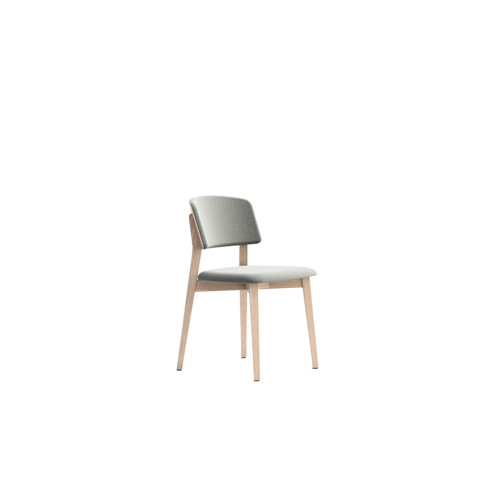 Wrap 6C63 Chair - Seat collection in stained or lacquered beechwood, with fabric, leather or eco-leather upholstery. Capable of transforming a room, a venue, a restaurant, a café through its softness and colour.  Lacquered versions available for an additional surcharge: Ral 9016 White I  Ral 9017 Black I Ral 7030 Stone I Ral 3020 Red | Matter of Stuff