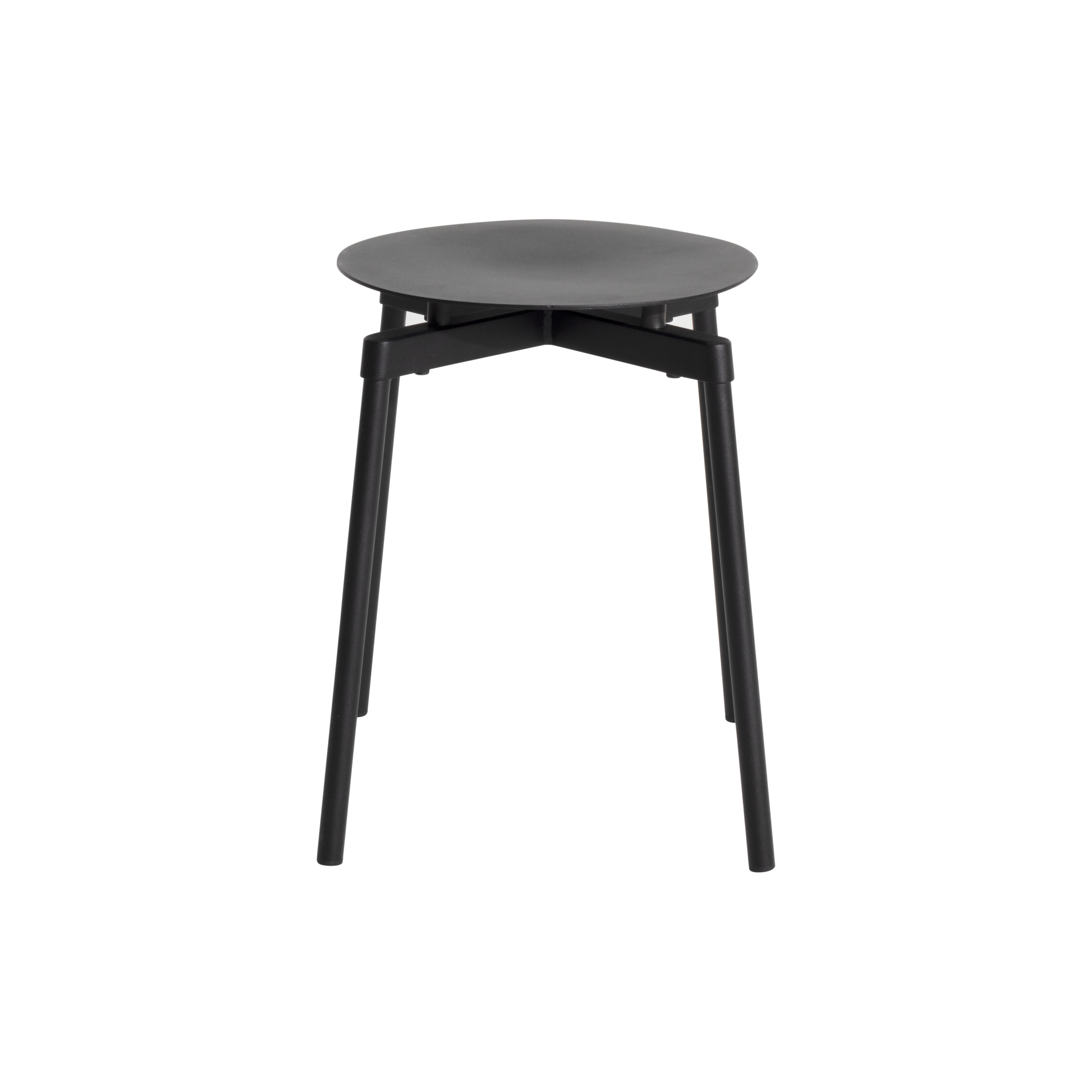 Fromme Stool - Metal chair This metal designer chair is distinguished by its pure line and its unique character: the absorbers placed under the seat give a soft and very comfortable flexibility to the chair.  This design was inspired by the personal story of Tom Chung. An experienced cyclist, he used to climb Fromme Mountain outside of Vancouver and was fascinated by the technical performance of his bike. He sought to rediscover the efficiency that the latter brought him to reinvent the most common object and yet the greatest challenge for a designer: a design chair  | Matter of Stuff