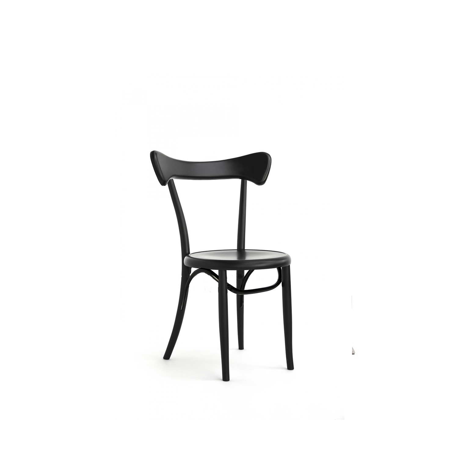 Black Cafestuhl Chair - This elegant chair combines the traditional bent beechwood of Viennese-styled furniture with an ergonomic and sinuous backrest. Either arranged in multiples or combined with the Bodystuhl and the Bistrostuhl around a modern table, this exquisite chair will imbue any home or elegant restaurant with character and refined taste. | Matter of Stuff