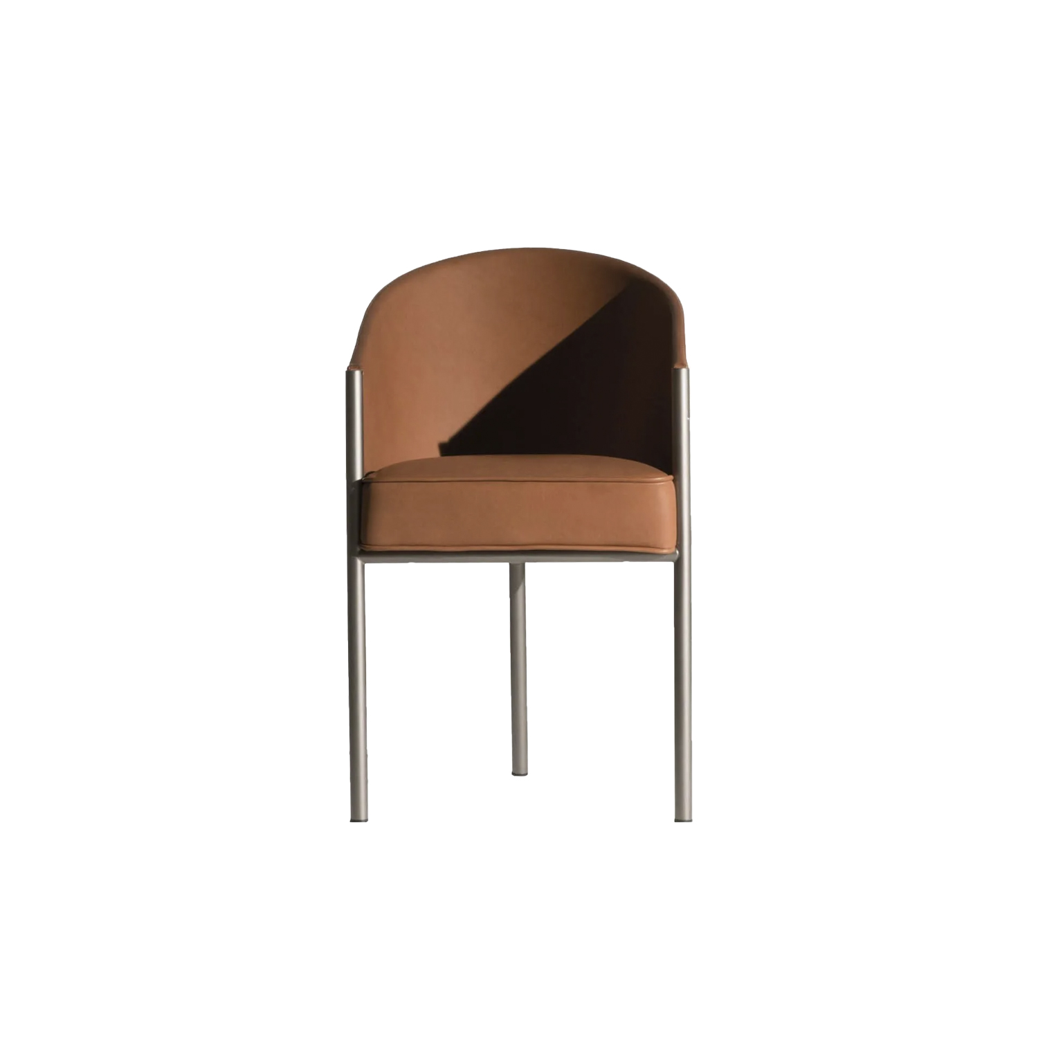 Costes Armchair Leather Upholstered - There are objects universally recognized as icons. Costes easy chair that, in 1984, marked the beginning of the partnership between Philippe Starck and Driade such as the consecration of the designer, formerly unknown in italy, is one of these objects. Designed for the homonymous, now disappeared, parisian café, owes its timeless success to the absoluteness of forms: a dark wooden embracing structure with three highly tilted legs. | Matter of Stuff