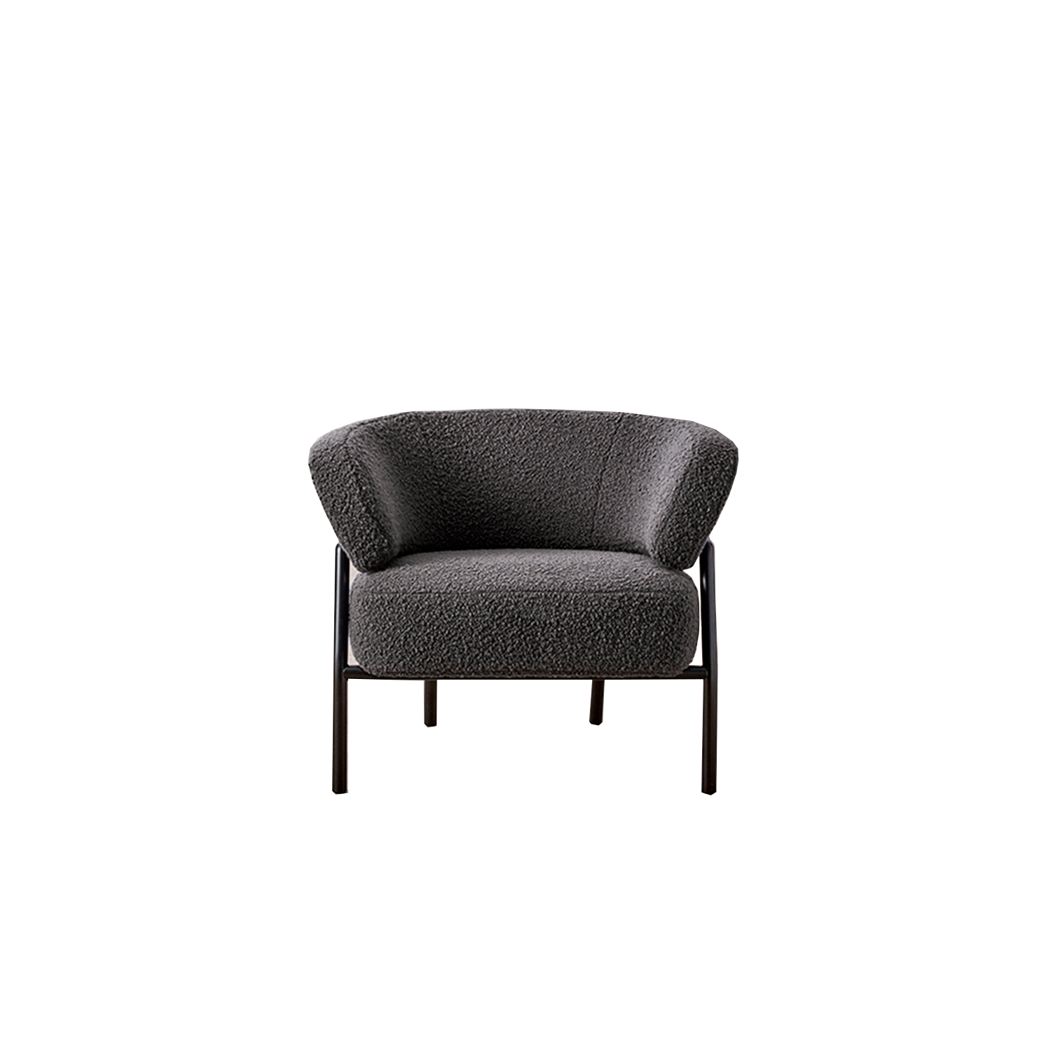 Nani' Lounge Armchair - A generously shaped armchair, characterized by a comfortable seat and embracing backrest, supported by a tubular metal structure. Back frame in POLIMEX® - a structural patented polymeric material, eco-friendly and ultralight.  The chair is available in different colour. Please enquire for more details | Matter of Stuff