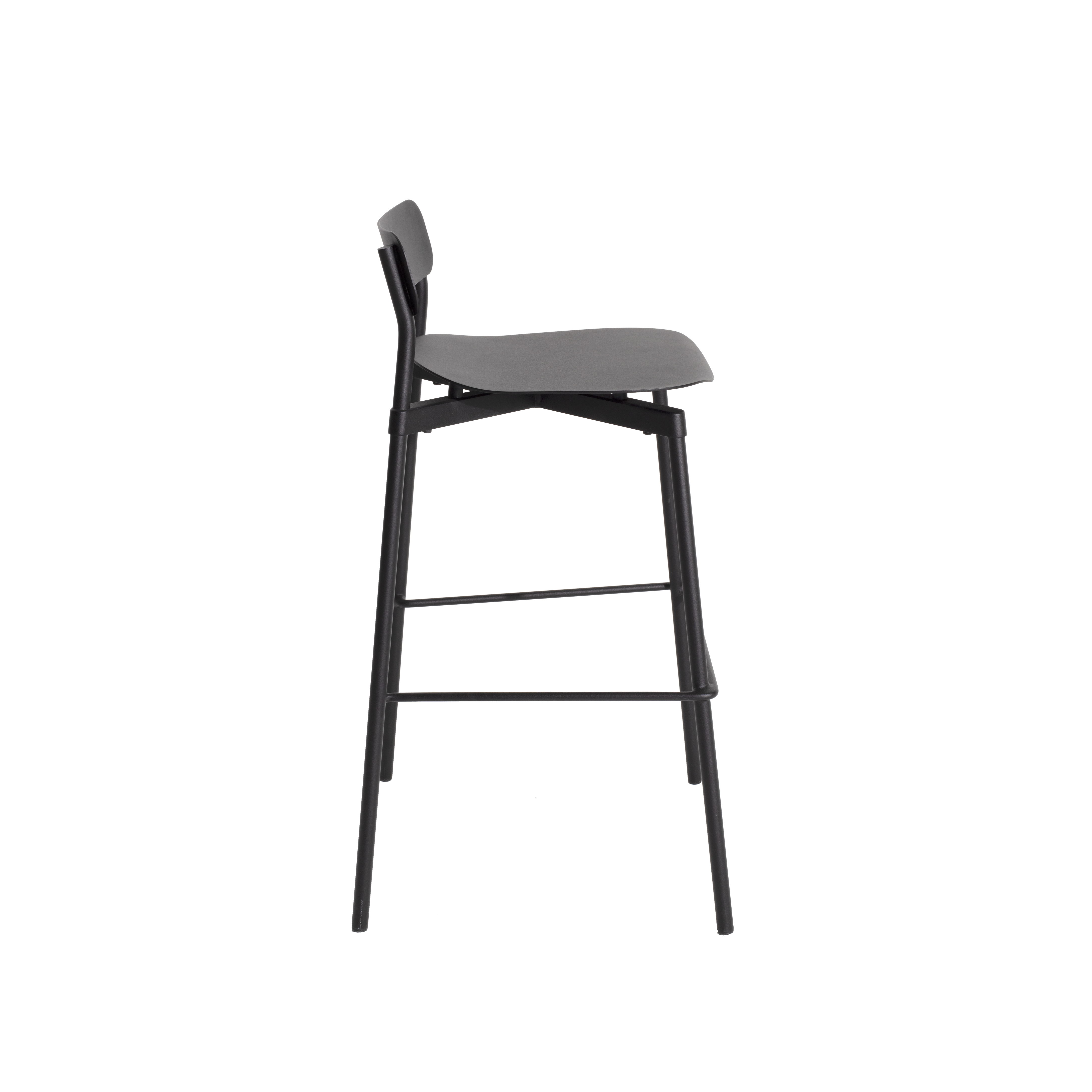 Fromme Bar Stool - Metal chair This metal designer chair is distinguished by its pure line and its unique character: the absorbers placed under the seat give a soft and very comfortable flexibility to the chair.  This design was inspired by the personal story of Tom Chung. An experienced cyclist, he used to climb Fromme Mountain outside of Vancouver and was fascinated by the technical performance of his bike. He sought to rediscover the efficiency that the latter brought him to reinvent the most common object and yet the greatest challenge for a designer: a design chair | Matter of Stuff