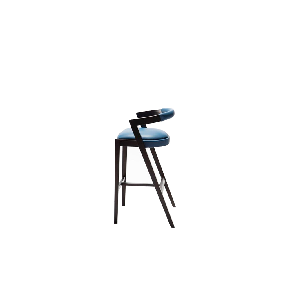 String Stool - Collection includes the armchair and stool made in solid beech wood, characterized by pronounced curves.   Suitable for commercial, contract, domestic and residential use.       Matter of Stuff