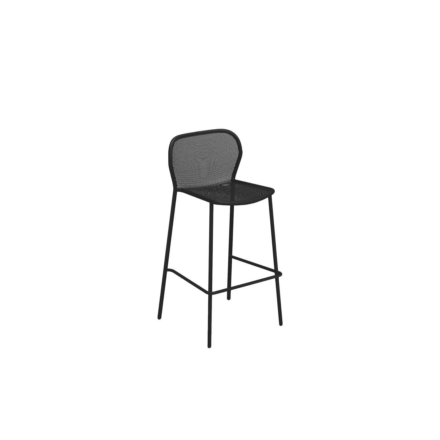 Darwin Barstool - Set of 4 - <p>The ergonomic proportions and lightness of structural lines guarantee both comfort and adaptability. Darwin is a steel collection, which revisits classic themes, in a delicate metal sheet mesh placed within a contemporary geometric structure. The Darwin range consists of chair, armchair, tables, stool and counter table, sofa, lounge chair and coffee table. Defined by its exceptional style, Darwin is suited to all kinds of furnishing contexts.</p>