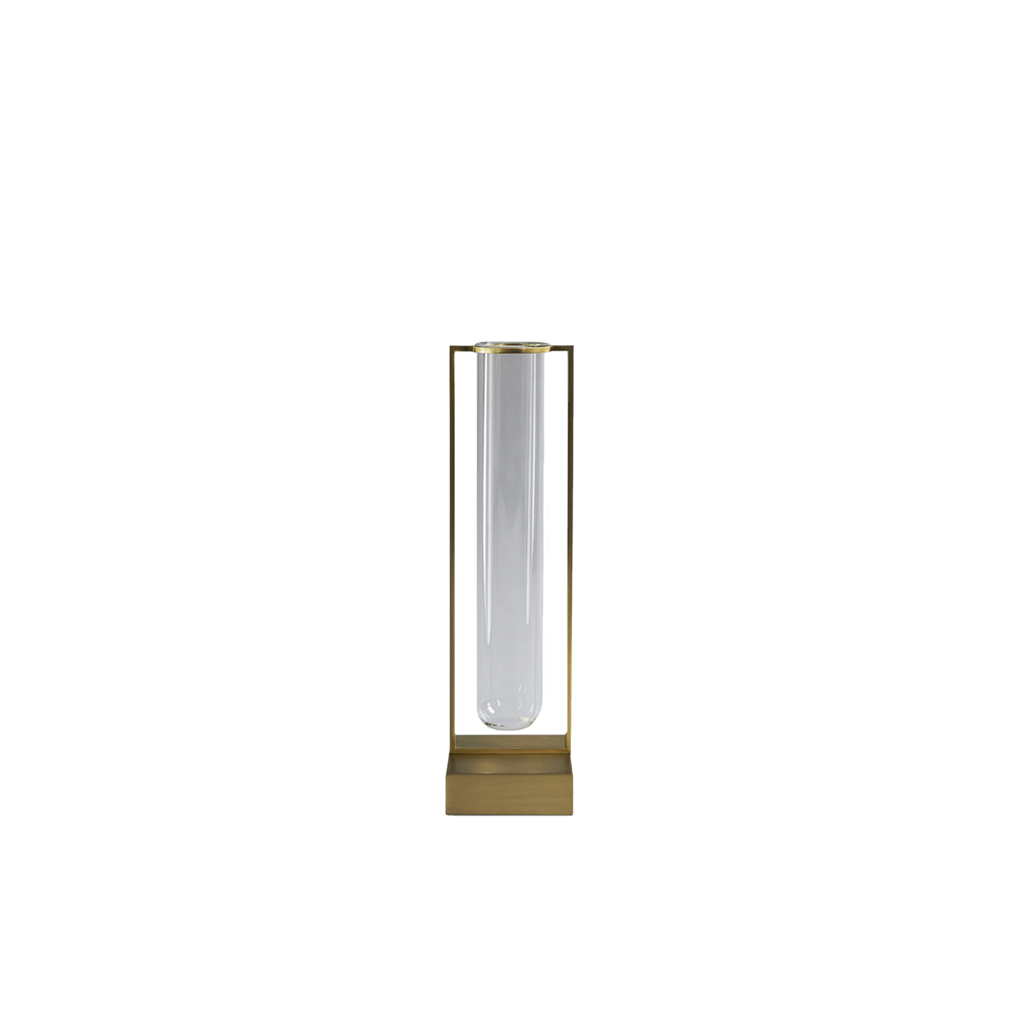 Set of 2 Tate Metal Vase - Tate is a timeless vase that reflects simplicity and functionality. The refined metal frame is elegantly shaped to carry the glass vase, while adding a sculptural detail throughout the design. Tate can stand alone as a sculpture in your interior, or serve as a vase for fresh flowers and appreciated objects.    Matter of Stuff