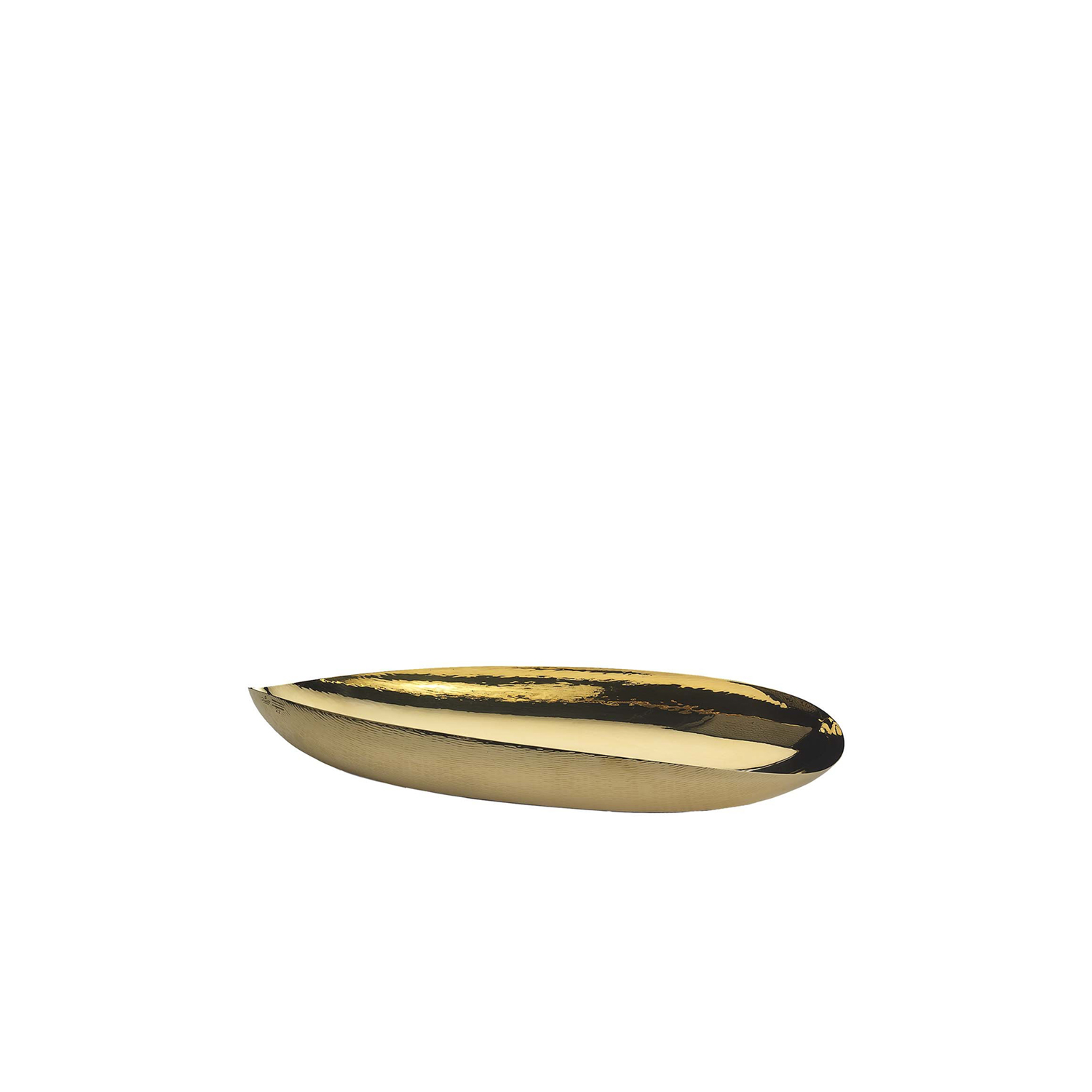Elis Bowl - This eye-catching decorative bowl by Zanetto is a testament of traditional craftsmanship and modern design sensibility. Handcrafted of hammered brass with a polished finish, this bowl is defined by its elegant, elliptical-shape and highly-reflective surface, creating brilliant effects with light. Perfect as a standalone piece or for displaying potpourri and trinkets, this piece will bring elegance to any decor. Also available in polished copper and silver. | Matter of Stuff