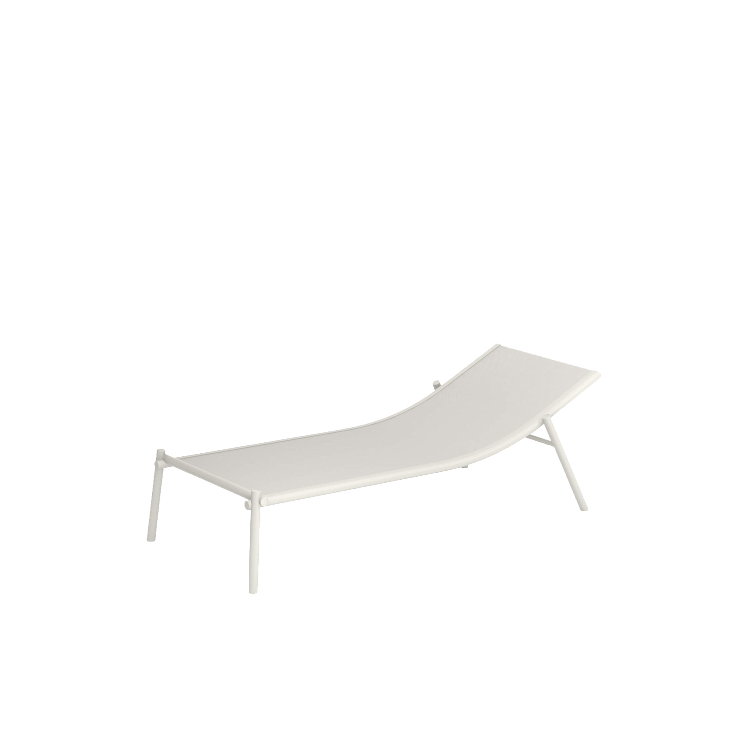 Terramare Stackable Sunbed - Welcoming shapes and wide dimensions characterise the Terramare collection by Studio Chiaramonte-Marin, ideal for cosy and personal settings both indoors and outdoors. A complete range of furniture for both dining and living areas. This sunbed is made from aluminium and has a sunbed cloth made from Emu-Tex. Emu-Tex is a fabric for outdoor use made with polyvinyl chloride thread. It has exceptional strength to ensure durability: maximum resistance to UV rays, the elements, humidity and sudden changes in temperature.  | Matter of Stuff
