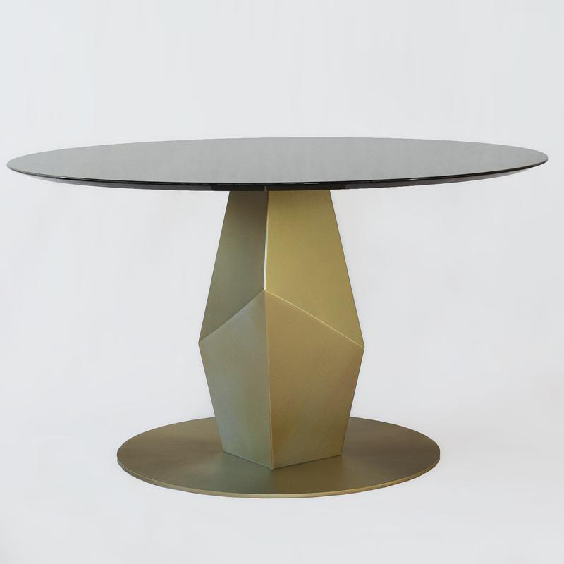 Achenar Dining Table - <p>Achenar is a dining table entirely worked by hand with traditional craft techniques. The structure is in stainless steel with liquid brass finish  and the top is available in Nero Marquinia Marble or Port Laurent Marble. 100% made in Italy.</p>  | Matter of Stuff