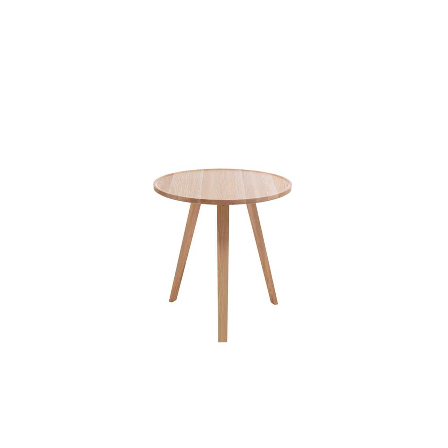 Mill Round Coffee Table - Mill (2012) is a table with a solid wooden top and legs. The tabletop has been milled down to produce its distinctive appearance. Mill is available with a round, square or rectangular top in a number of different sizes and in heights of 460, 590 and 720 mm. The table is made of solid wood, so it can be sanded down and relacquered a number of times, making it suitable for use in settings where it is subjected to a lot of wear and tear.  Mill comes in a choice of oak, birch, ash, standard stains on ash and white glazed oak or ash. The table is also available in standard colors with tabletop made in MDF. Special sizes and other finishes upon request. You can use Mill to furnish cafés, kitchens and living rooms, or in hotels, schools, waiting areas etc.  Additional heights and dimensions are available, please see technical sheet attached and enquire for more details. | Matter of Stuff