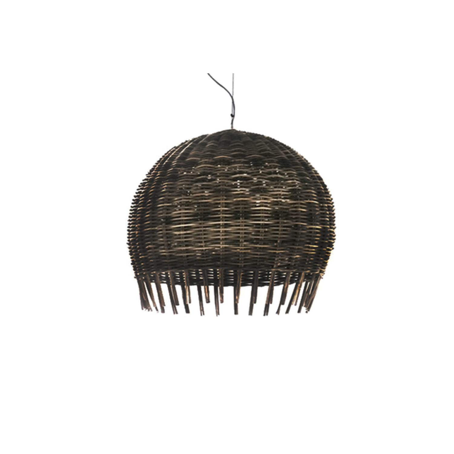 """Croco 96 Pendant Lamp - This rattan collection derives its name from the raw material used – originally called in Kalimantan dialect """"Buaya"""", translated as """"Crocodile"""" for its special colour and nuances. Frames are of rattan, wood and plywood. Seats are completely woven. Cushions of polyurethane foams, Dacron and down, all covers are removable. The bulb is not included. 