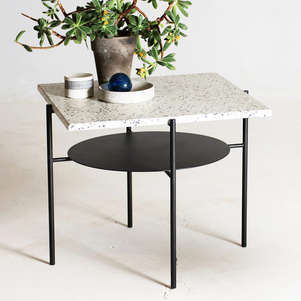 Confetti Coffee Table - <p>The Confetti Coffee is a reinterpretation of a classic mid-century coffee table by a Turkish architect & designer Derya Arpac. The design pairs a custom Terrazzo top with a powder coated steel frame. It makes a perfect companion for afternoon cocktails; or - a simple and sturdy side table.</p>  | Matter of Stuff