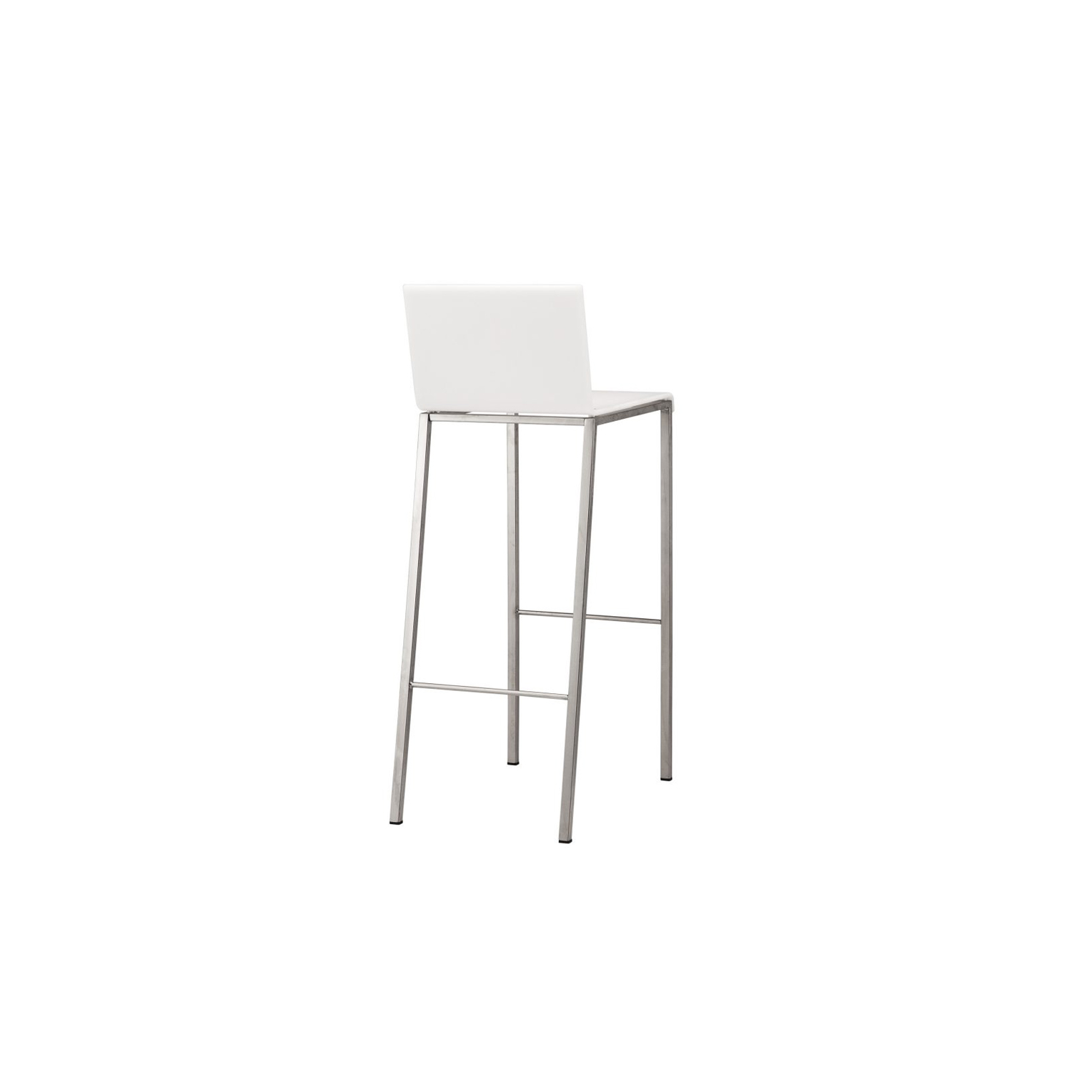 Bianco Barstool - The Bianco Barstool is an industrial yet modern addition to your home. Featuring a sandblasted stainless steel tube or embossed black or white frame 15 x 20 mm. The 10 mm seat in acrylic resin opaque black or opaline white.