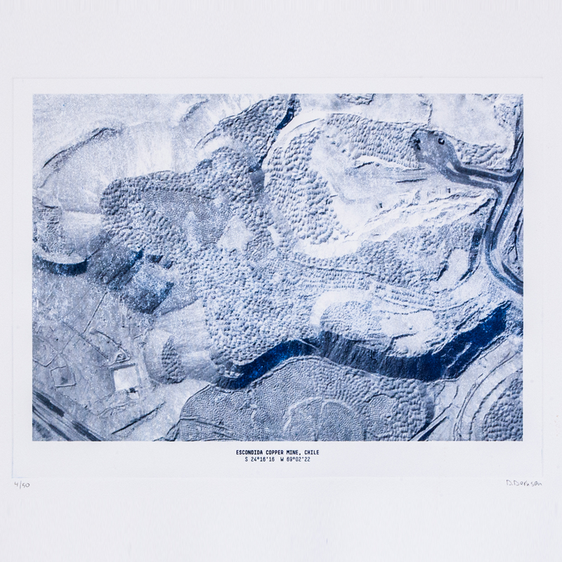 The Copper Project - Mining Etching Print - <p>The structures of these mines, as can be seen on satellite photo's, form fascinating patterns and reliefs in the earth. These sometimes abstract images have been used to make a series of etchings. The prints have been made with a traditional technique where copper plates with an etched relief are used to transfer the ink onto the paper. Together, they show the intriguing and intimidating world of copper mining, a story about copper in copper etchings.</p>  | Matter of Stuff
